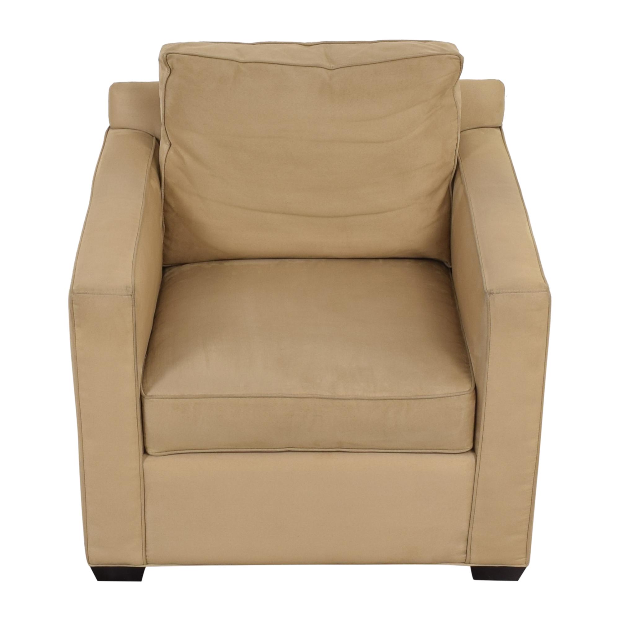 Crate & Barrel Davis Beige Accent Chair sale