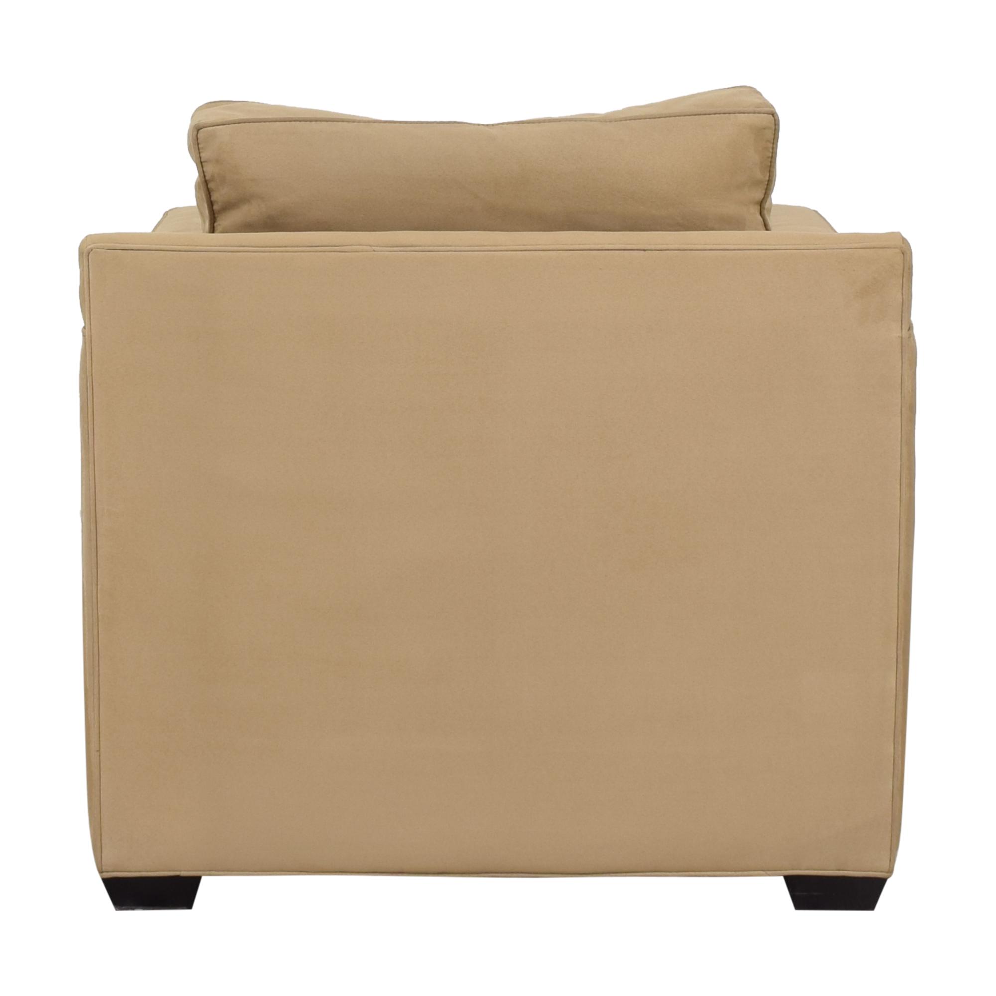 Crate & Barrel Crate & Barrel Davis Beige Accent Chair for sale