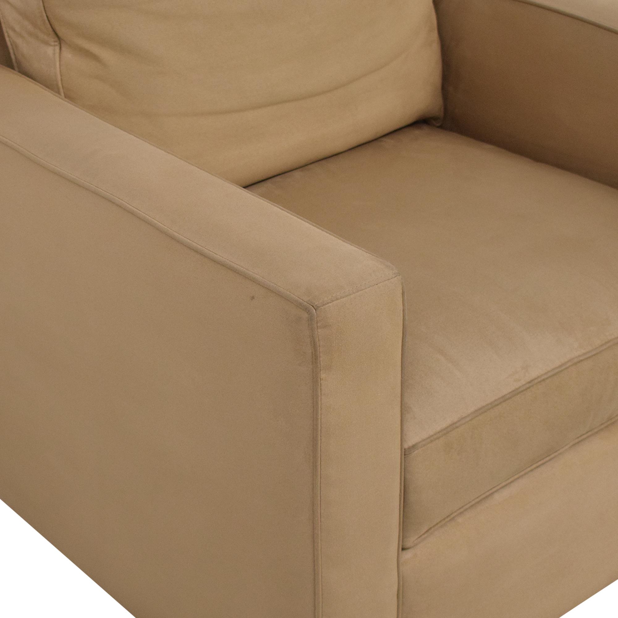 Crate & Barrel Davis Beige Accent Chair / Accent Chairs