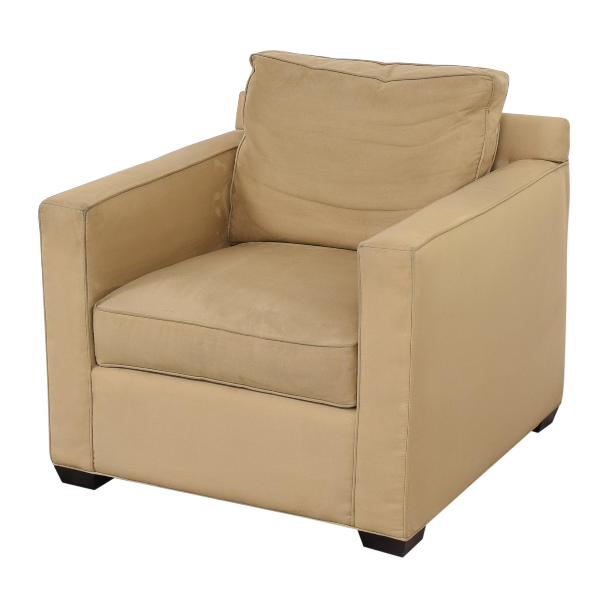 shop Crate & Barrel Davis Beige Accent Chair Crate & Barrel Accent Chairs