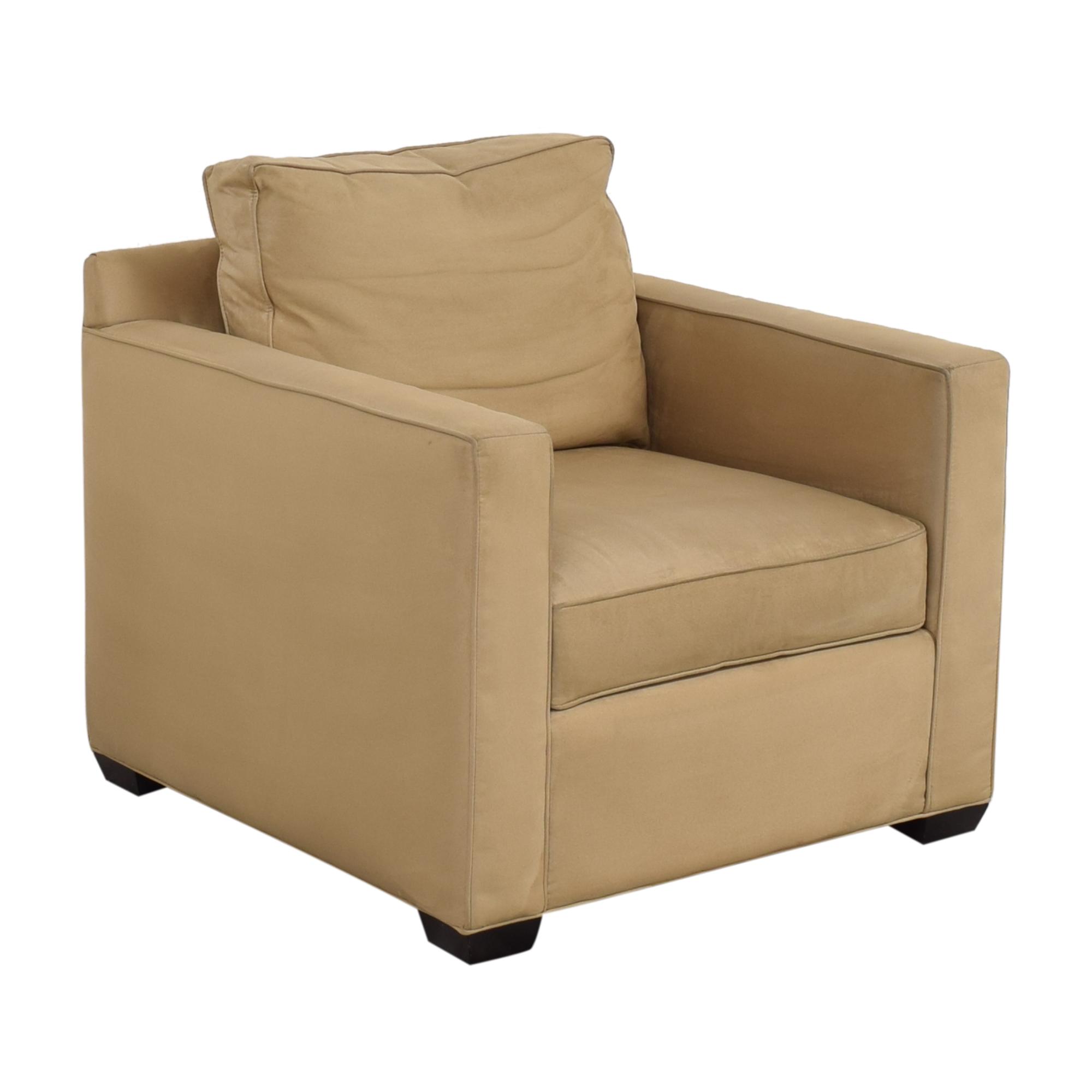 buy Crate & Barrel Davis Beige Accent Chair Crate & Barrel