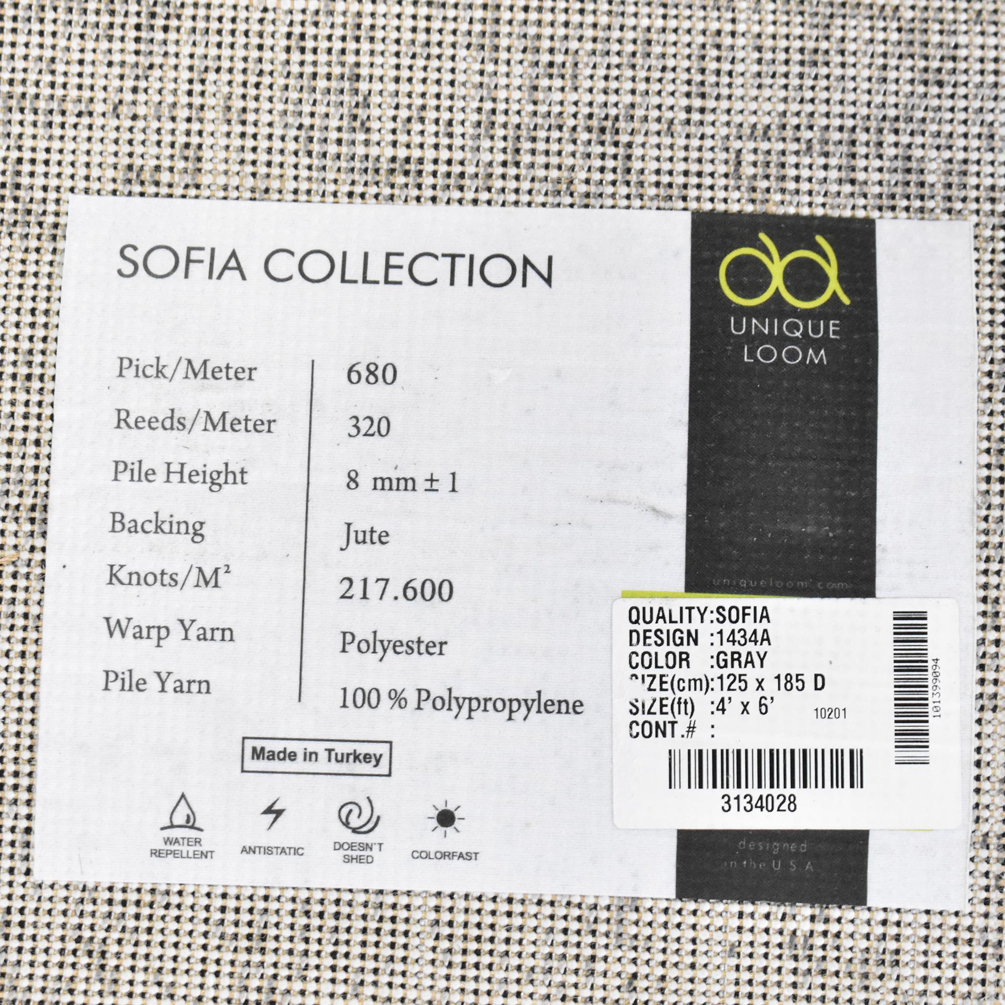 Unique Loom Sofia Collection Area Rug / Decor