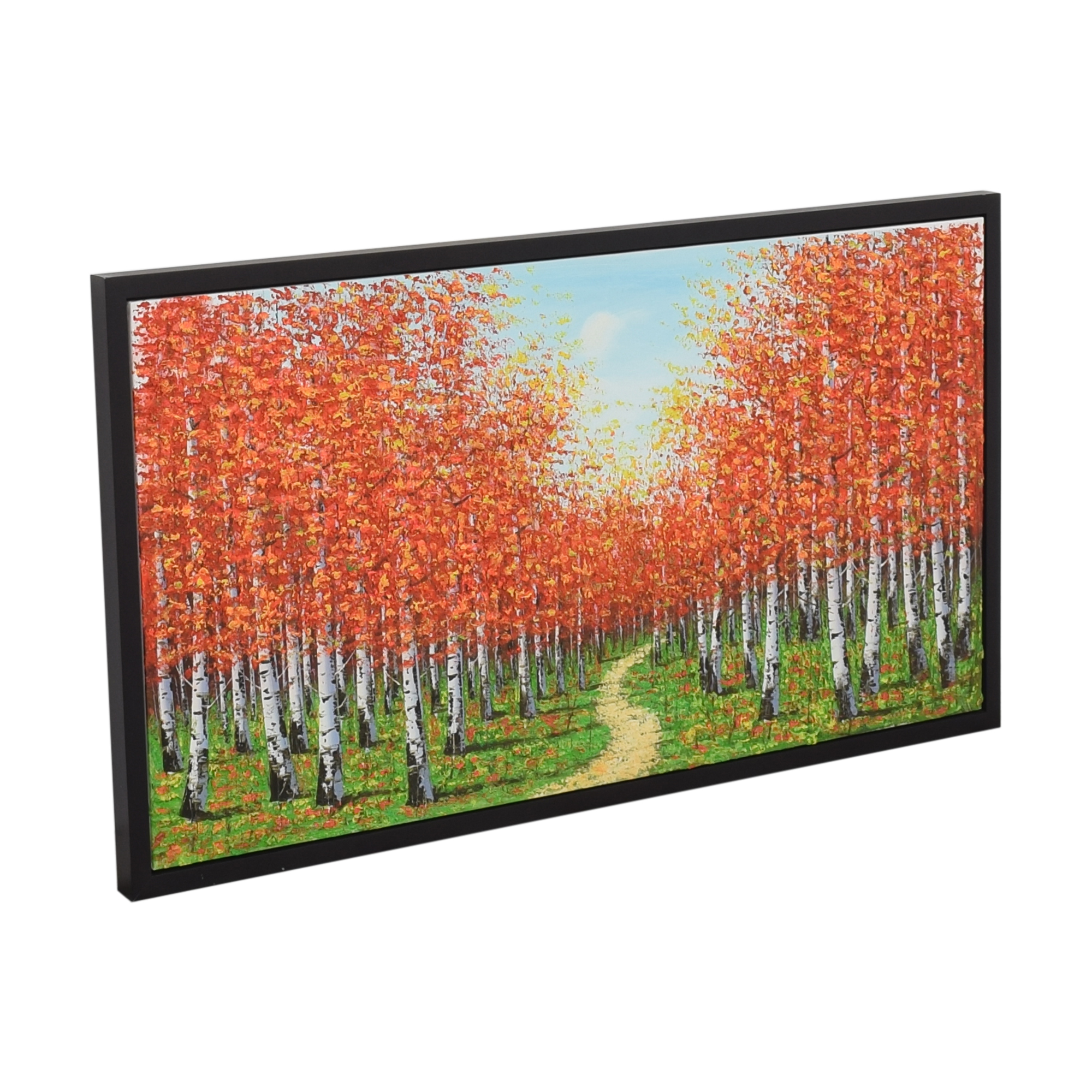 Framed Landscape Painting Wall Art pa