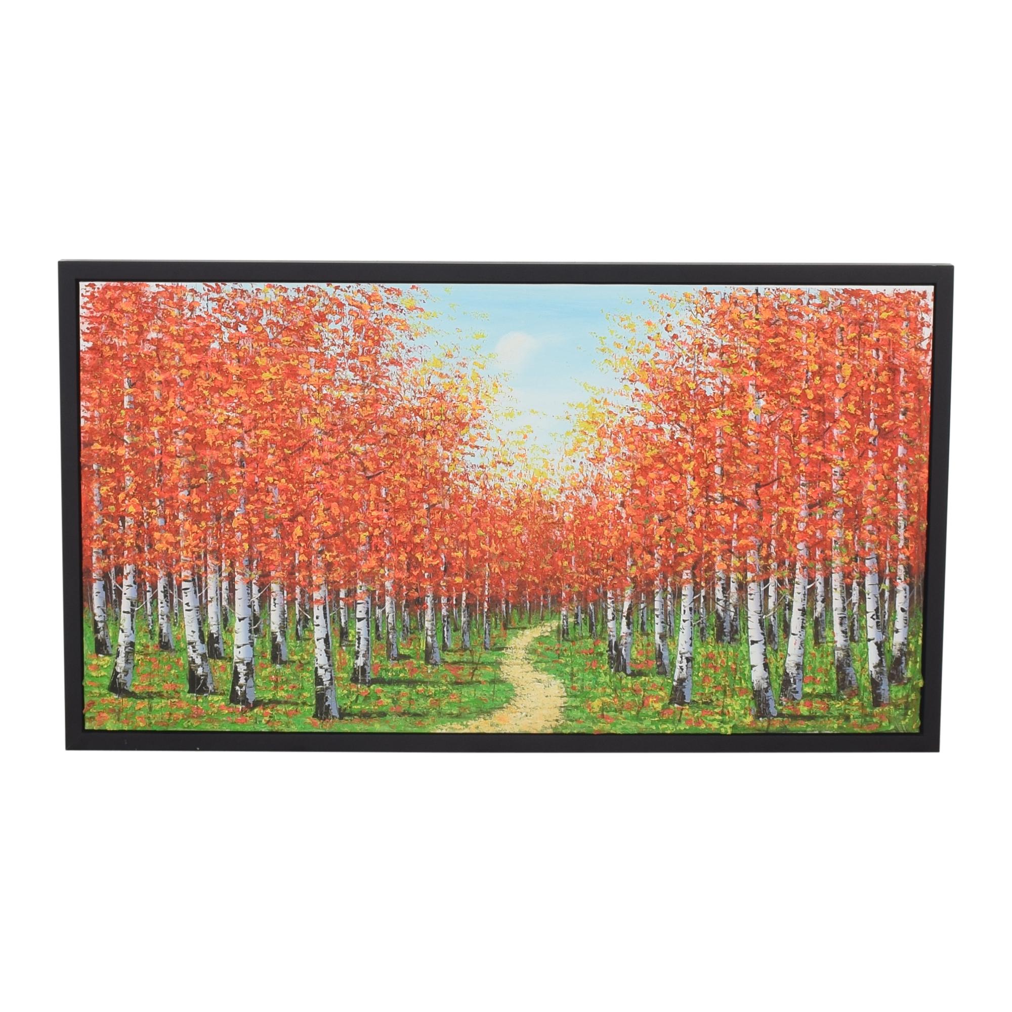shop Framed Landscape Painting Wall Art  Wall Art