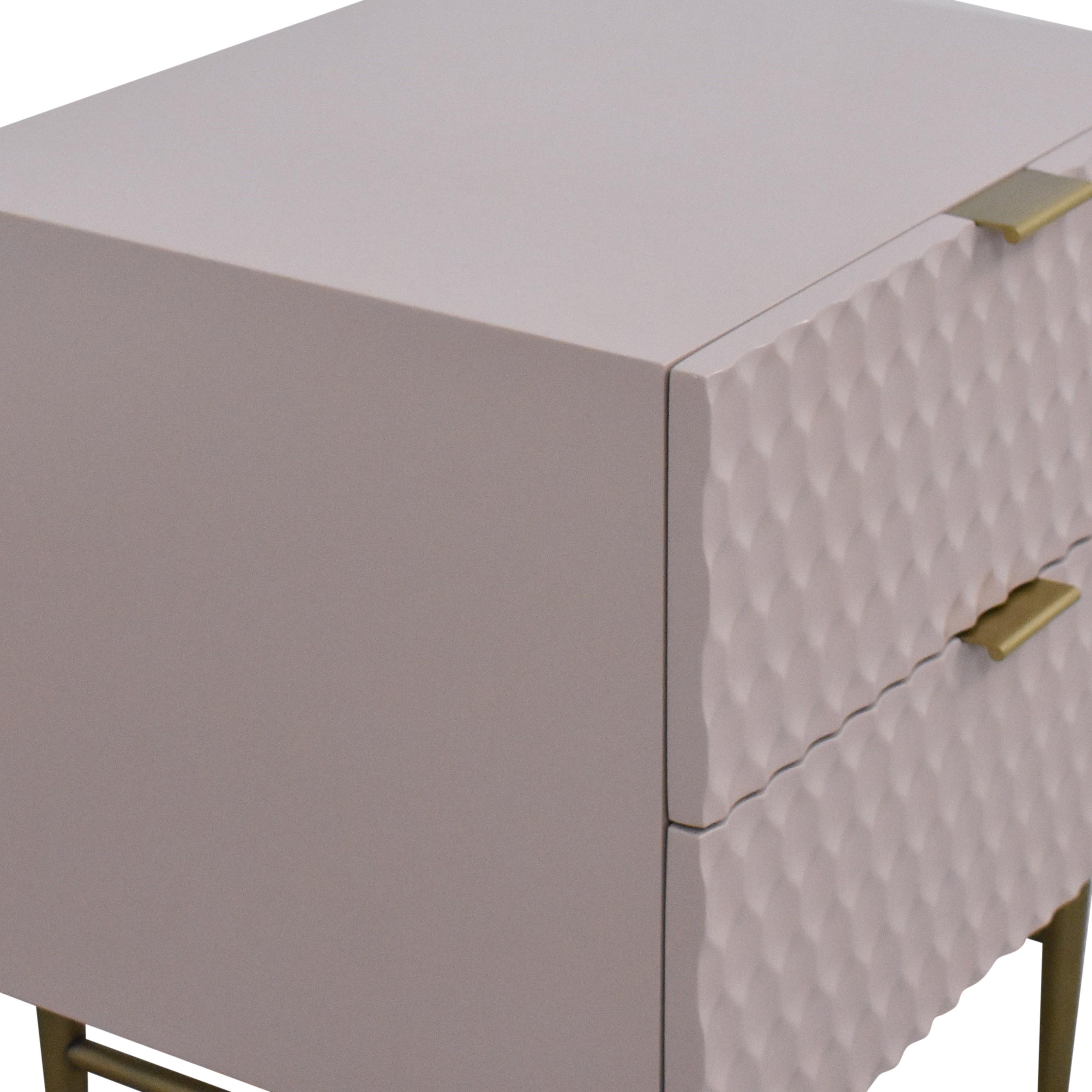 West Elm Audrey Two Drawer Nightstand sale