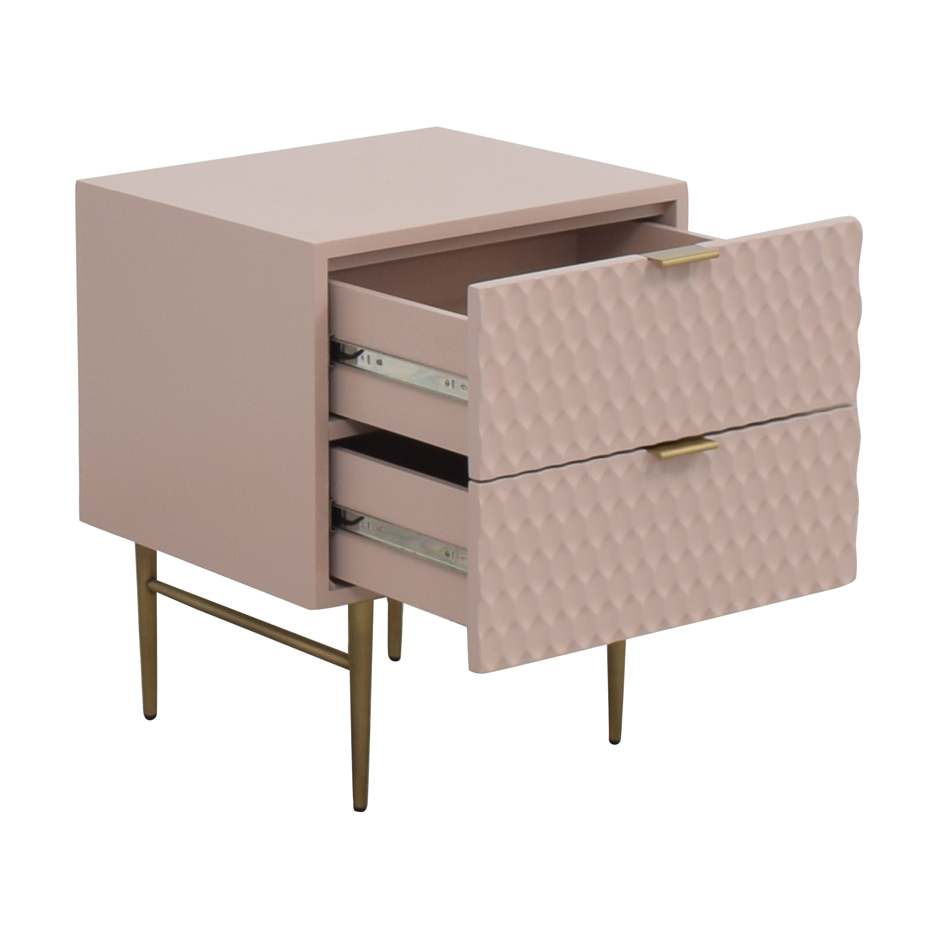 shop West Elm Audrey Two Drawer Nightstand West Elm