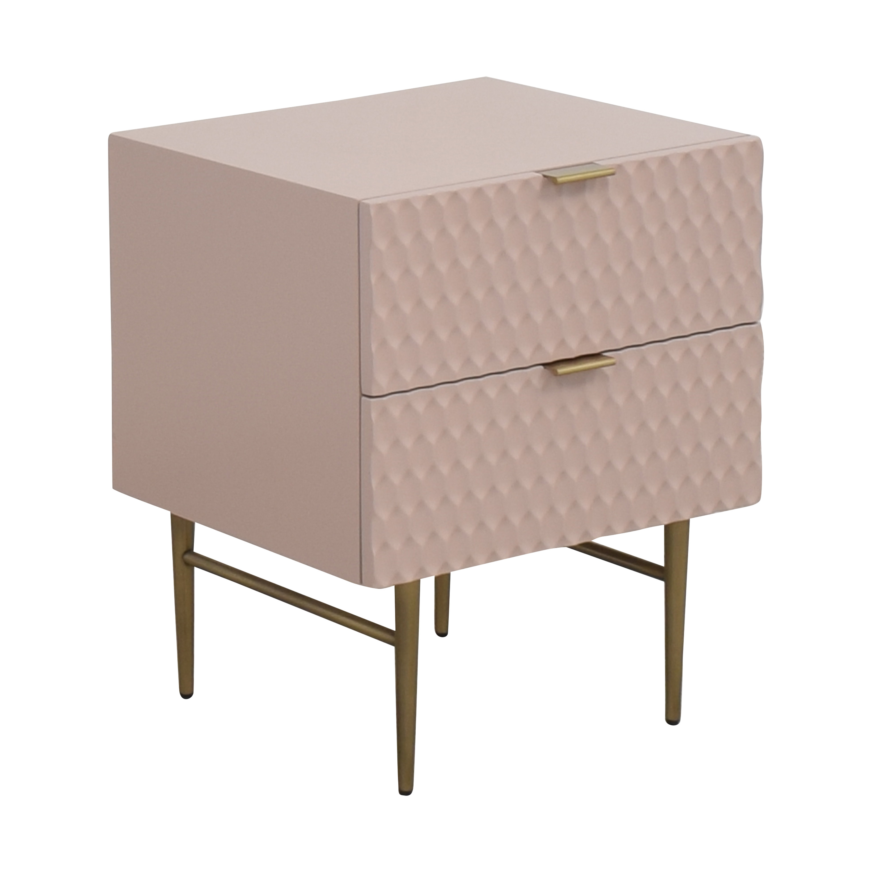 West Elm West Elm Audrey Two Drawer Nightstand for sale
