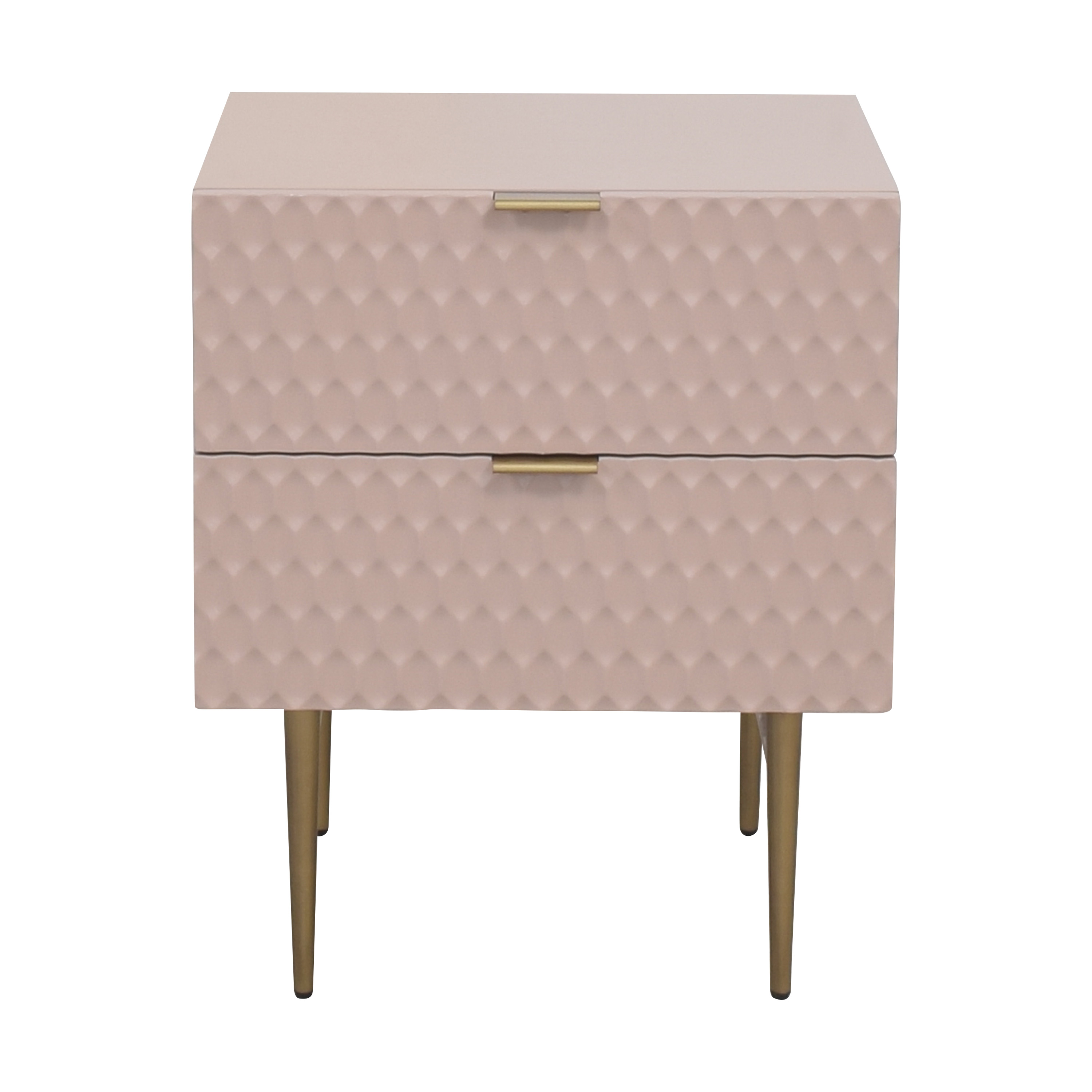 buy West Elm Audrey Two Drawer Nightstand West Elm Tables