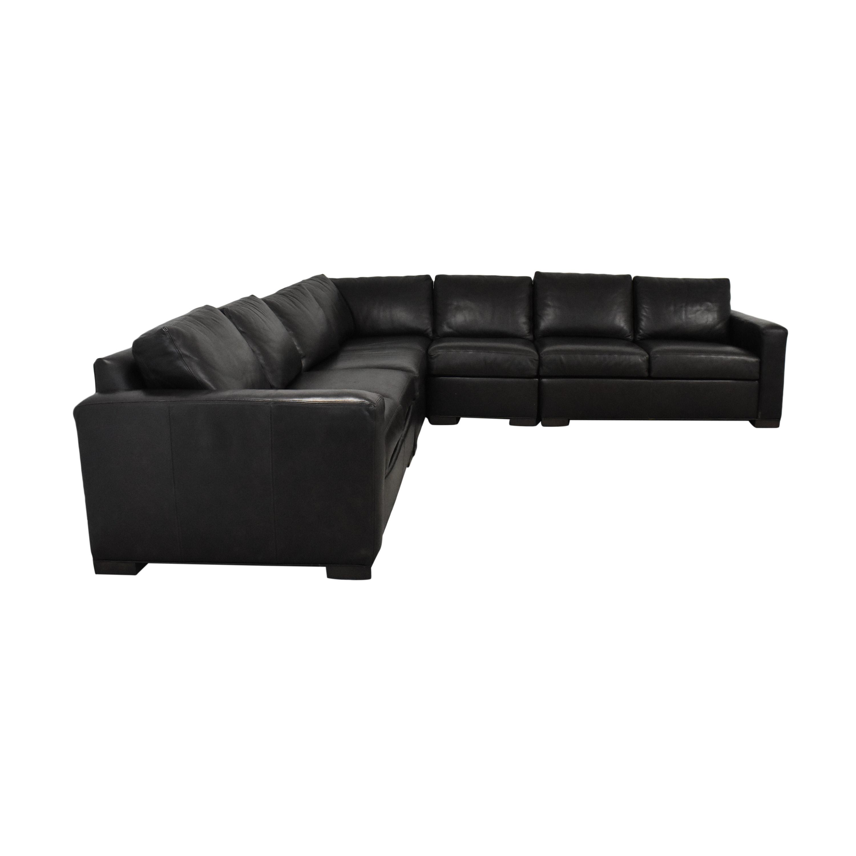 Ethan Allen Corner Sectional Sofa sale