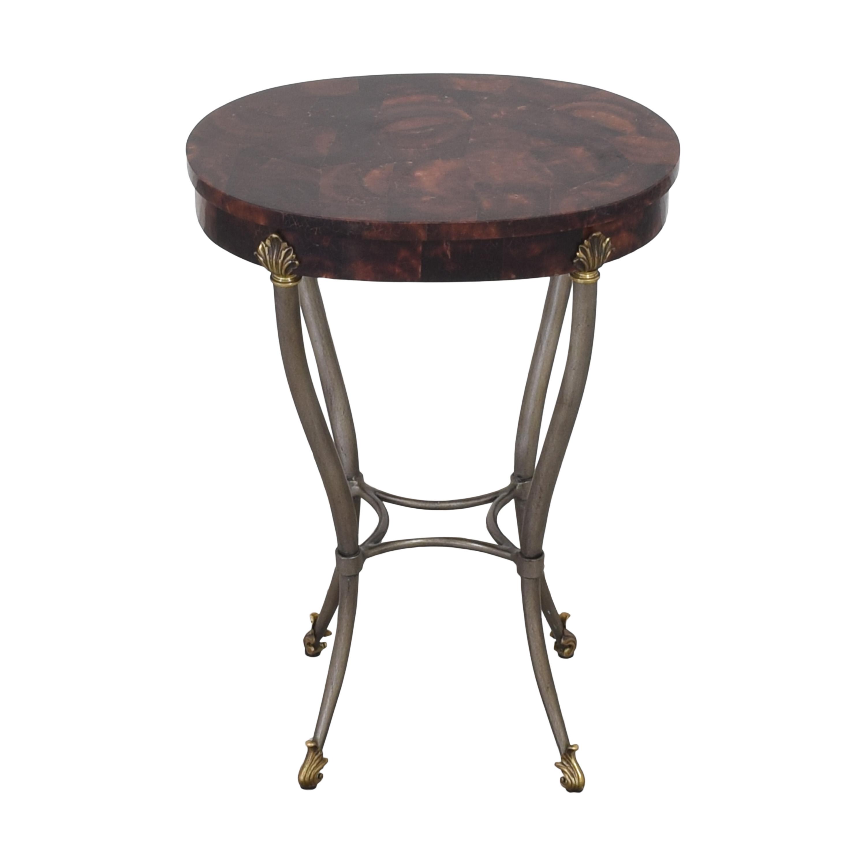 Ethan Allen Oval Side Table sale