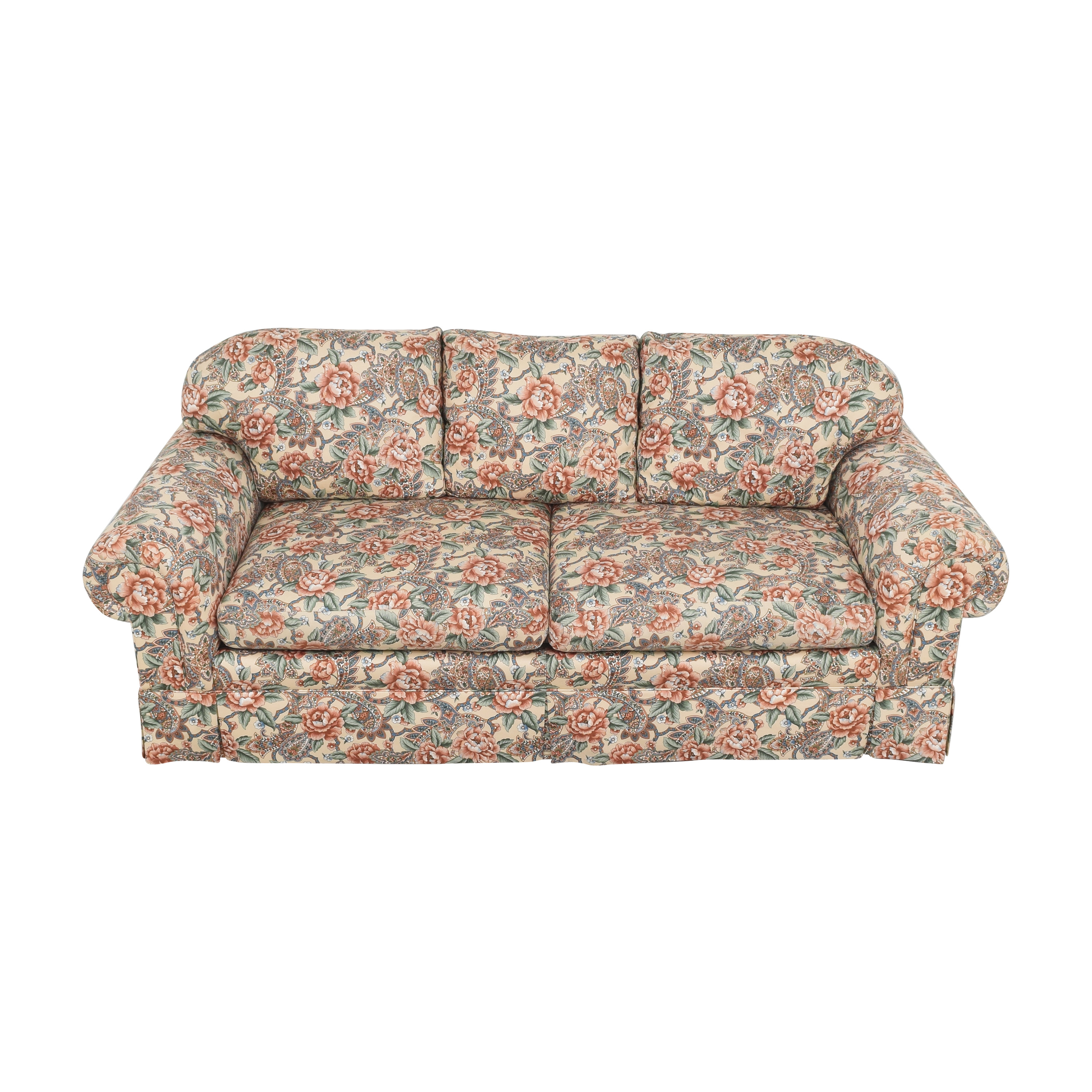 EJ Victor EJ Victor Floral and Paisley Skirted Sofa second hand