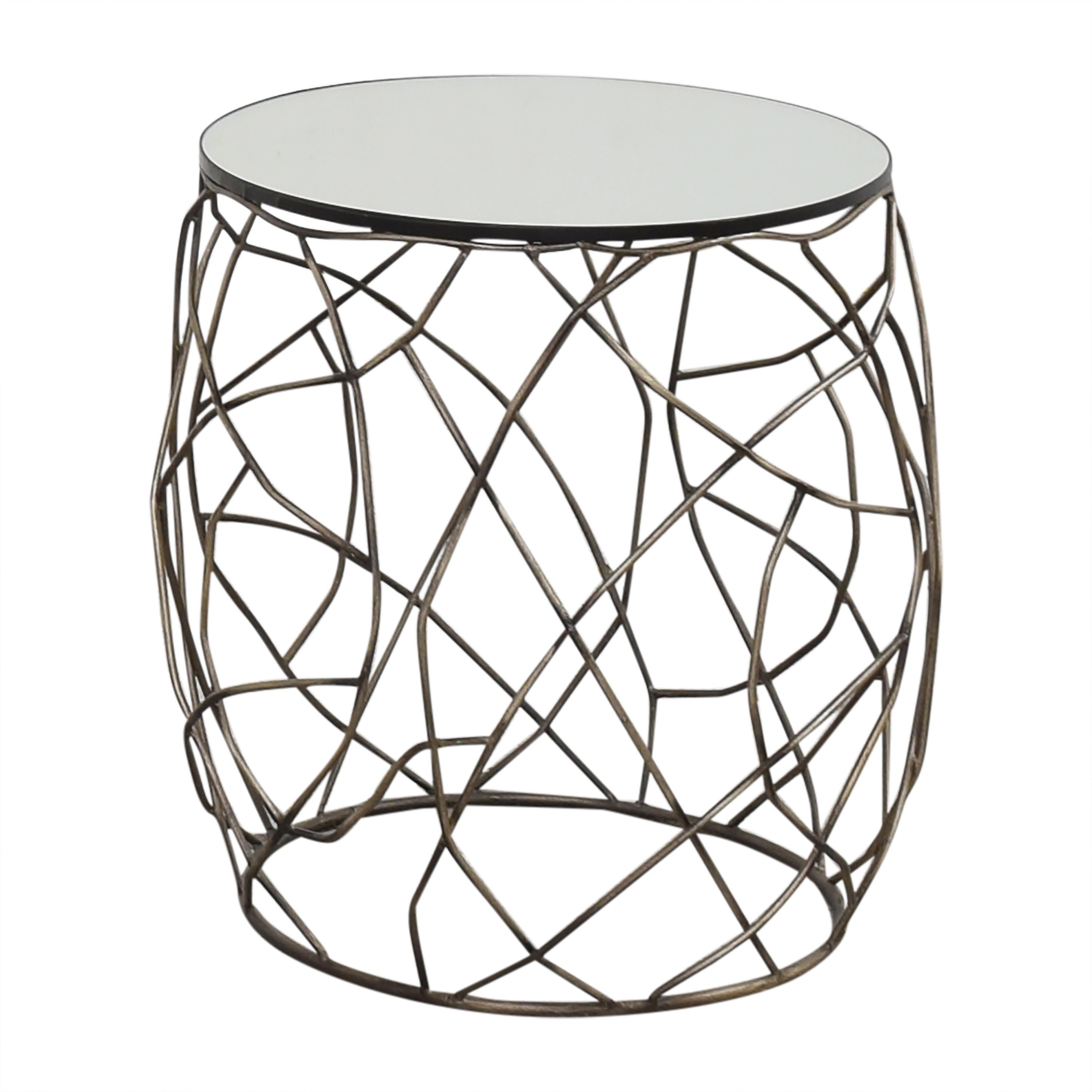 Horchow Horchow Rumi Openwork Side Table nj