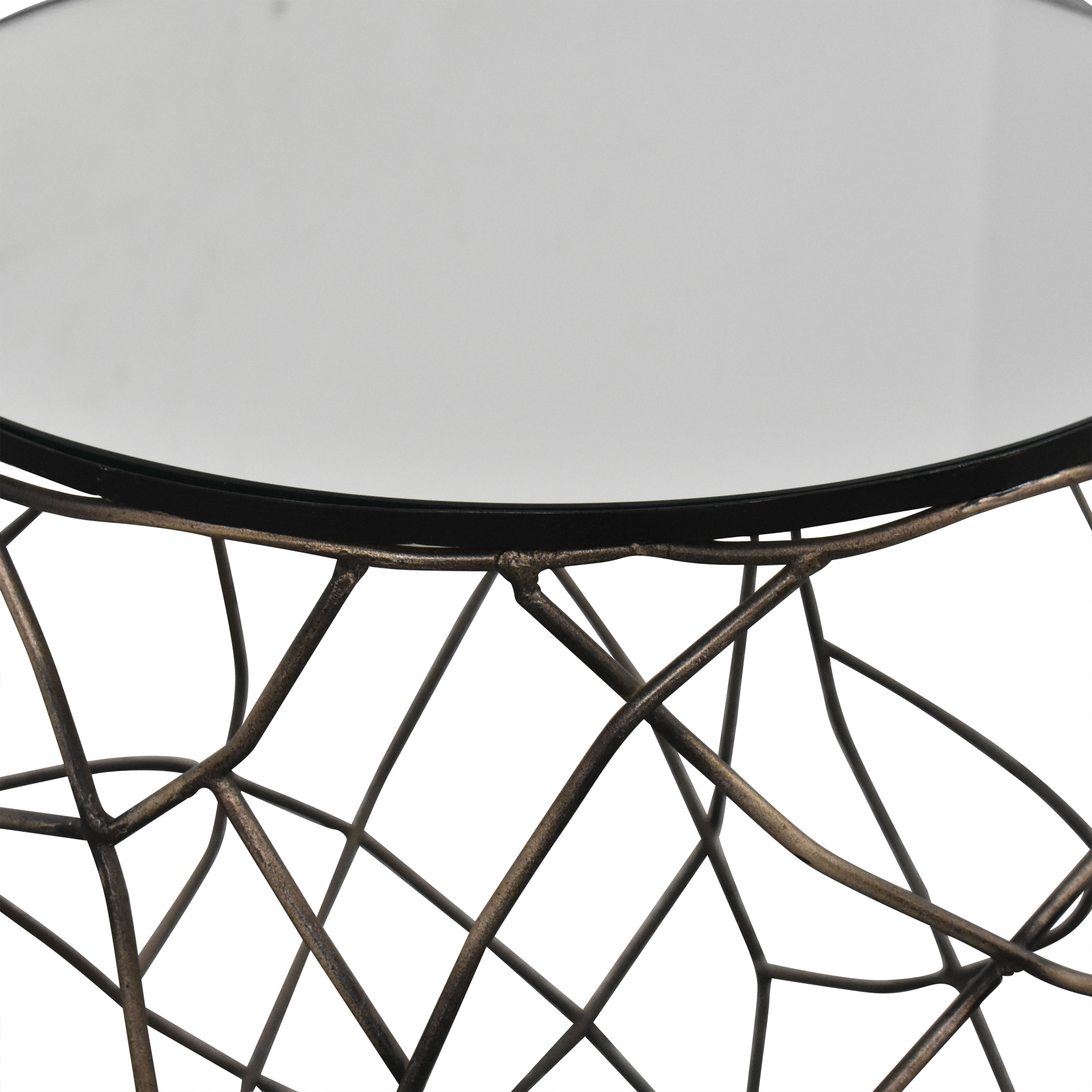 Horchow Horchow Rumi Openwork Side Table second hand