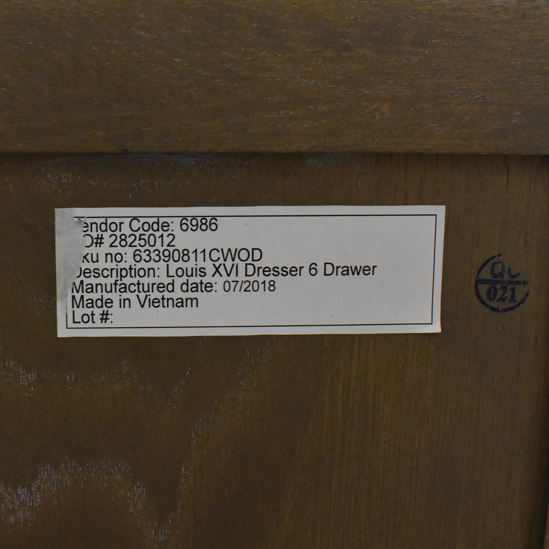 shop Restoration Hardware Restoration Hardware Louis XVI Six Drawer Dresser online
