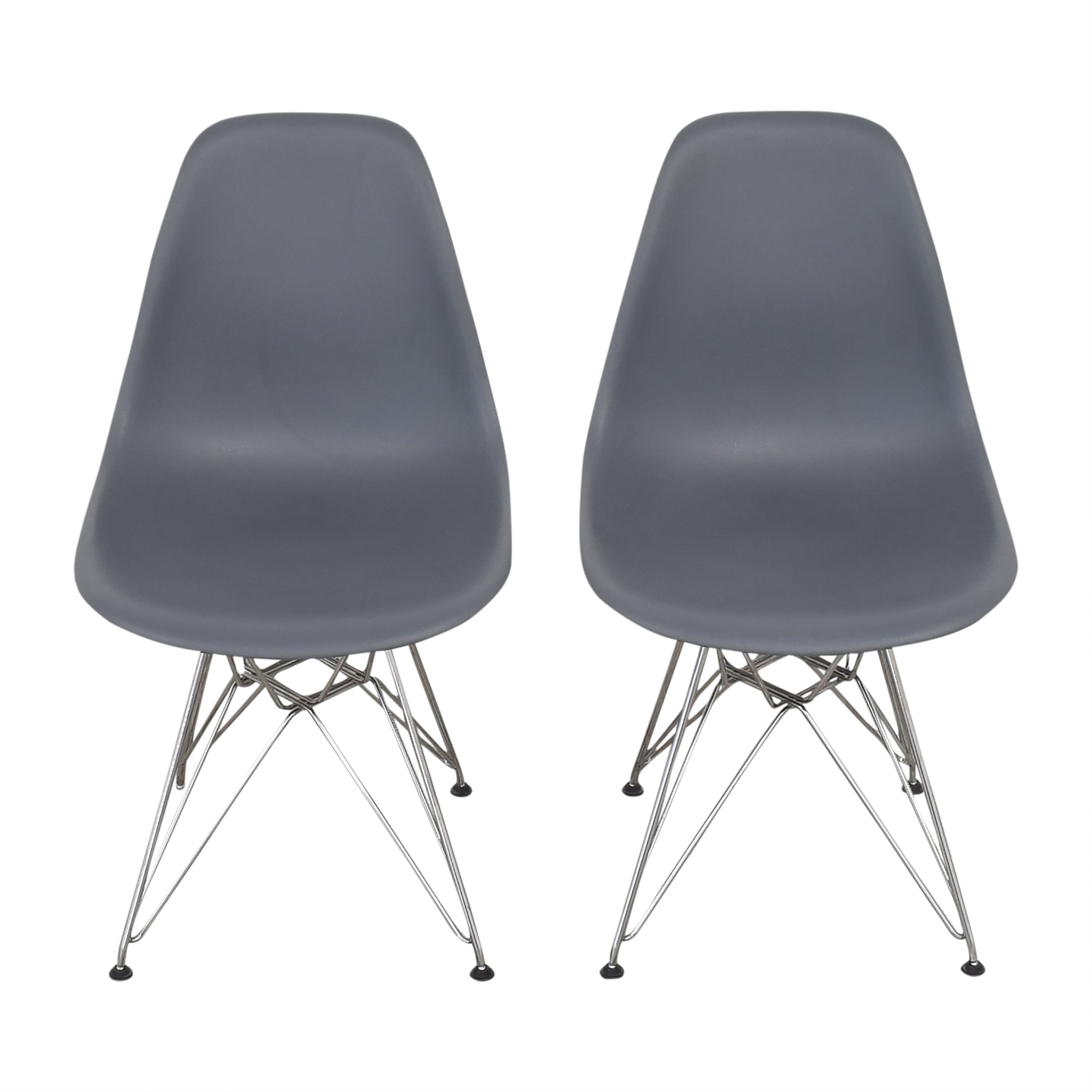 Design Within Reach Design Within Reach Herman Miller Eames Molded Side Chairs gray and silver