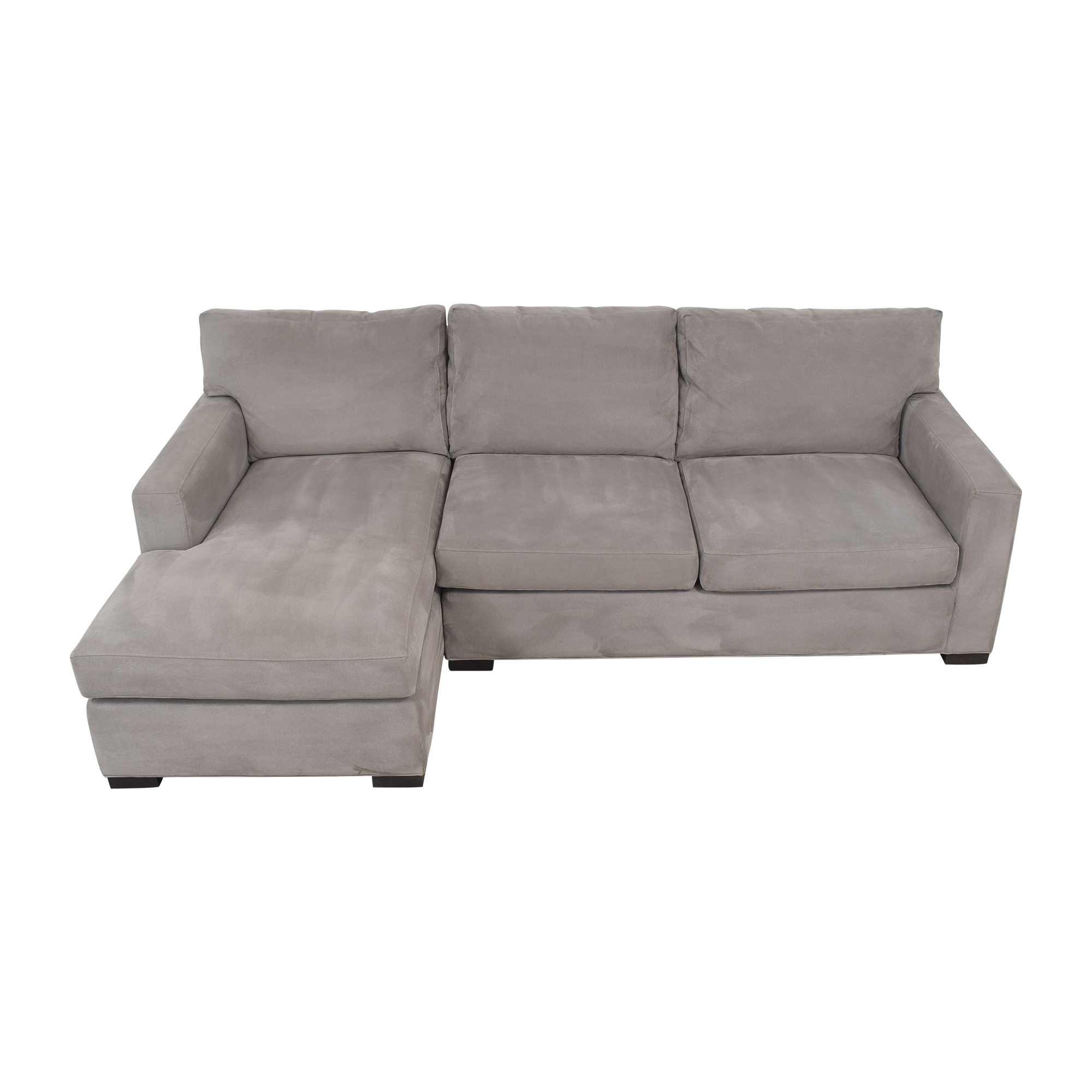 shop Crate & Barrel Axis II Two Piece Sectional Sofa Crate & Barrel Sectionals