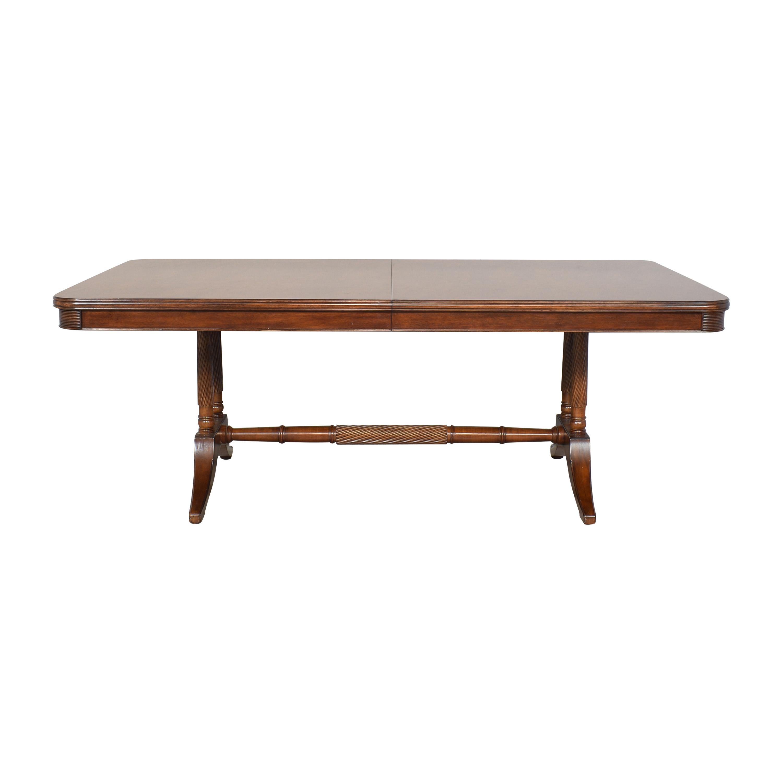buy Bernhardt Extendable Trestle Dining Table Bernhardt