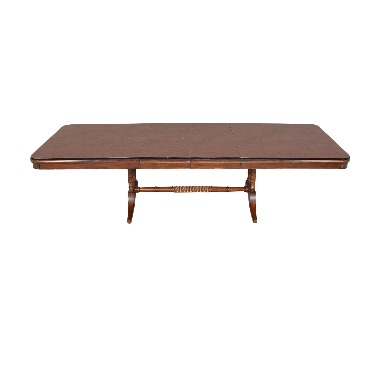 Bernhardt Extendable Trestle Dining Table / Tables