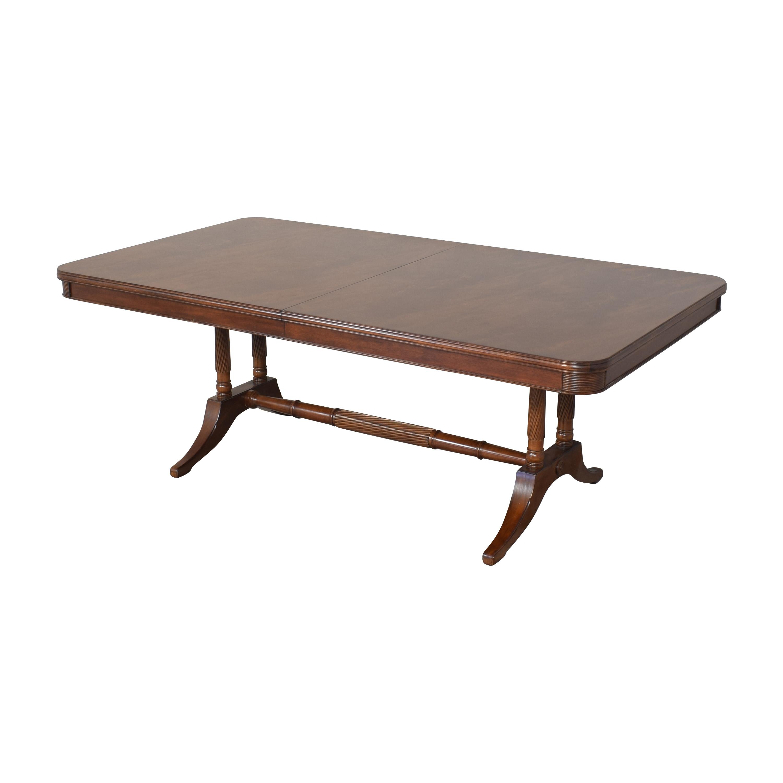 Bernhardt Bernhardt Extendable Trestle Dining Table for sale