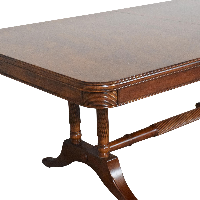 Bernhardt Bernhardt Extendable Trestle Dining Table