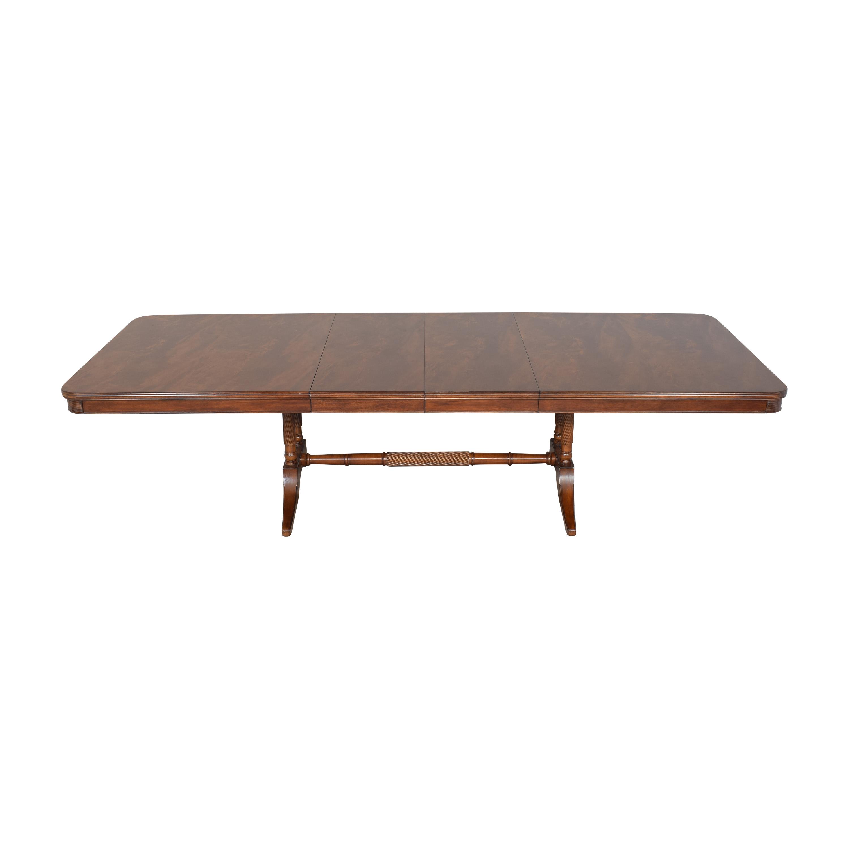 Bernhardt Bernhardt Extendable Trestle Dining Table Dinner Tables