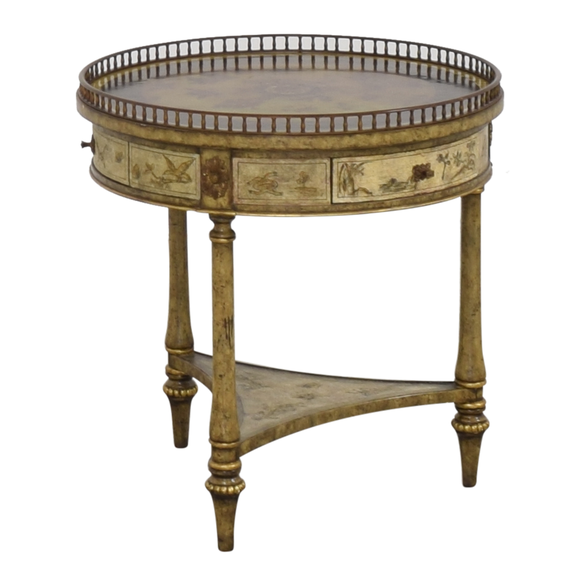Maitland-Smith Maitland-Smith Three Drawer Round End Table End Tables
