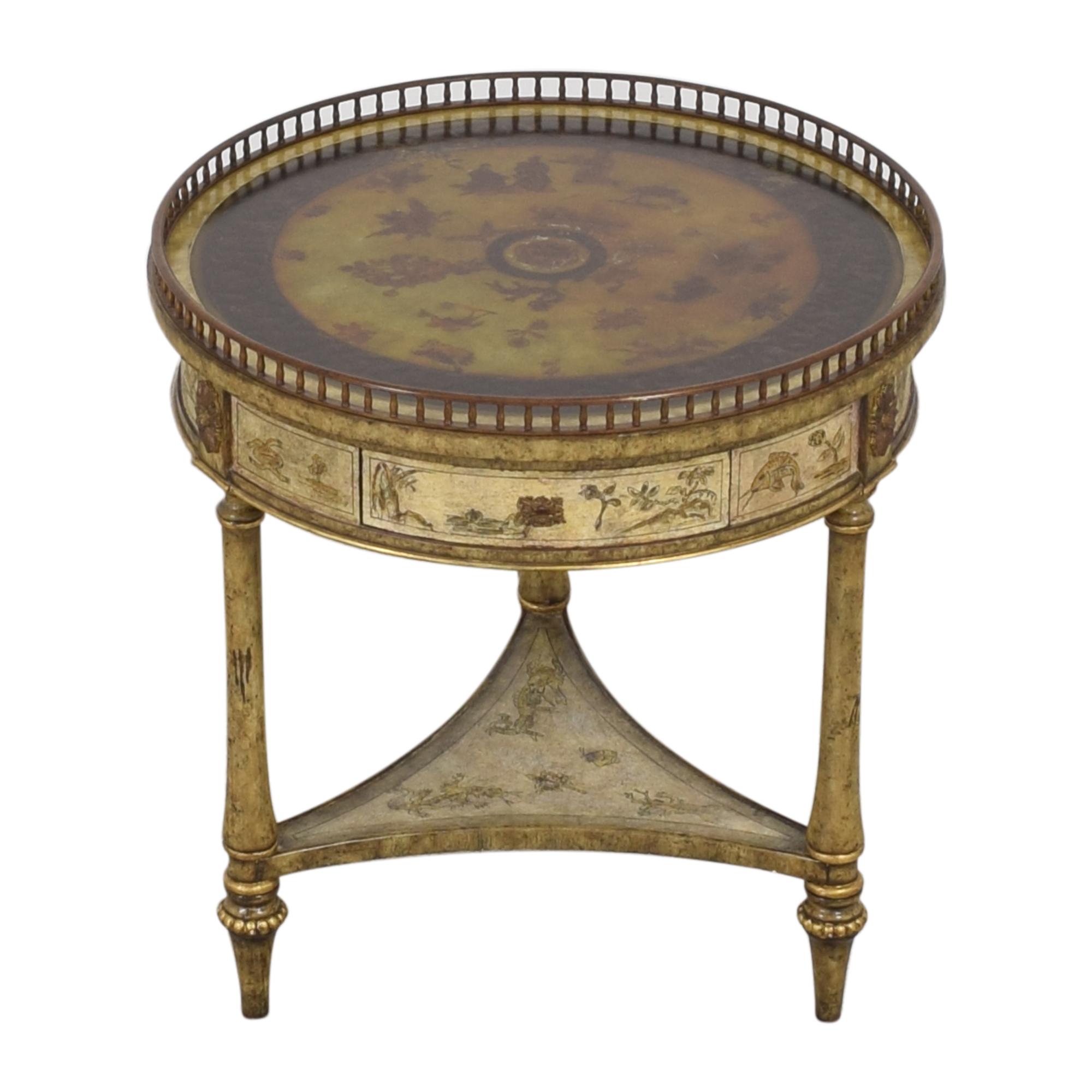 buy Maitland-Smith Three Drawer Round End Table Maitland-Smith Tables