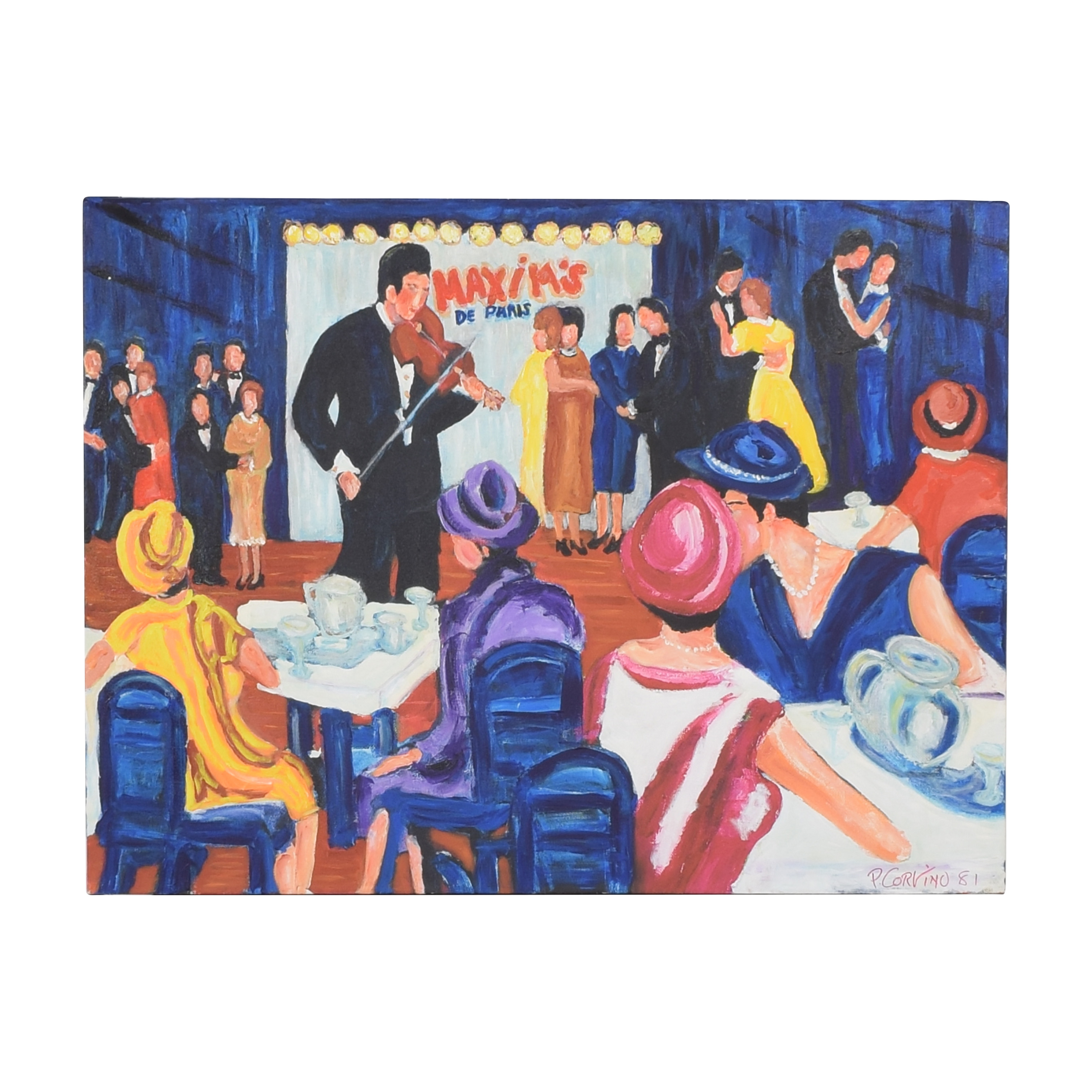 shop  Paolo Corvino Maxim's Painting Wall Art online