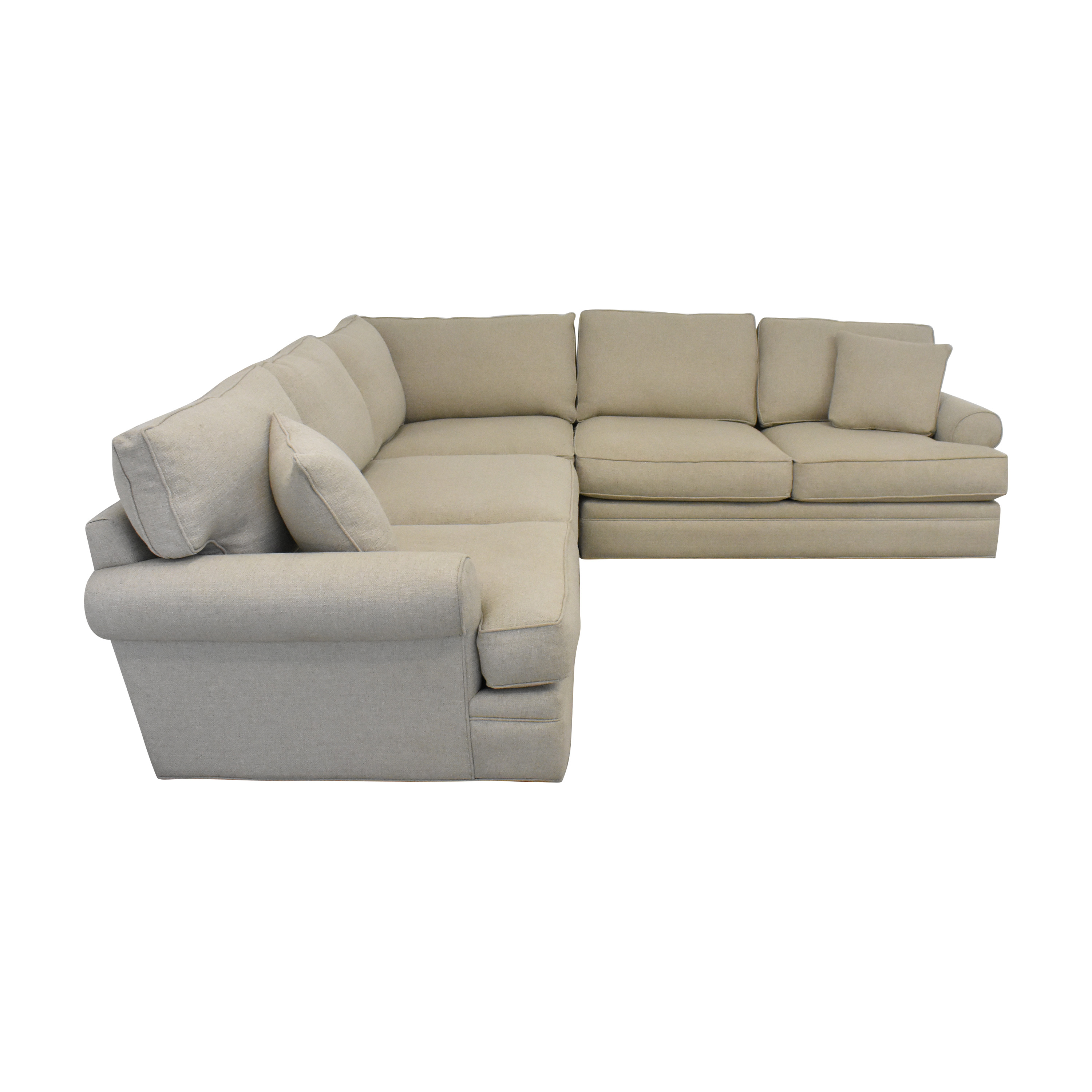 Raymour & Flanigan Raymour & Flanigan Wilkinson Sectional Sofa beige