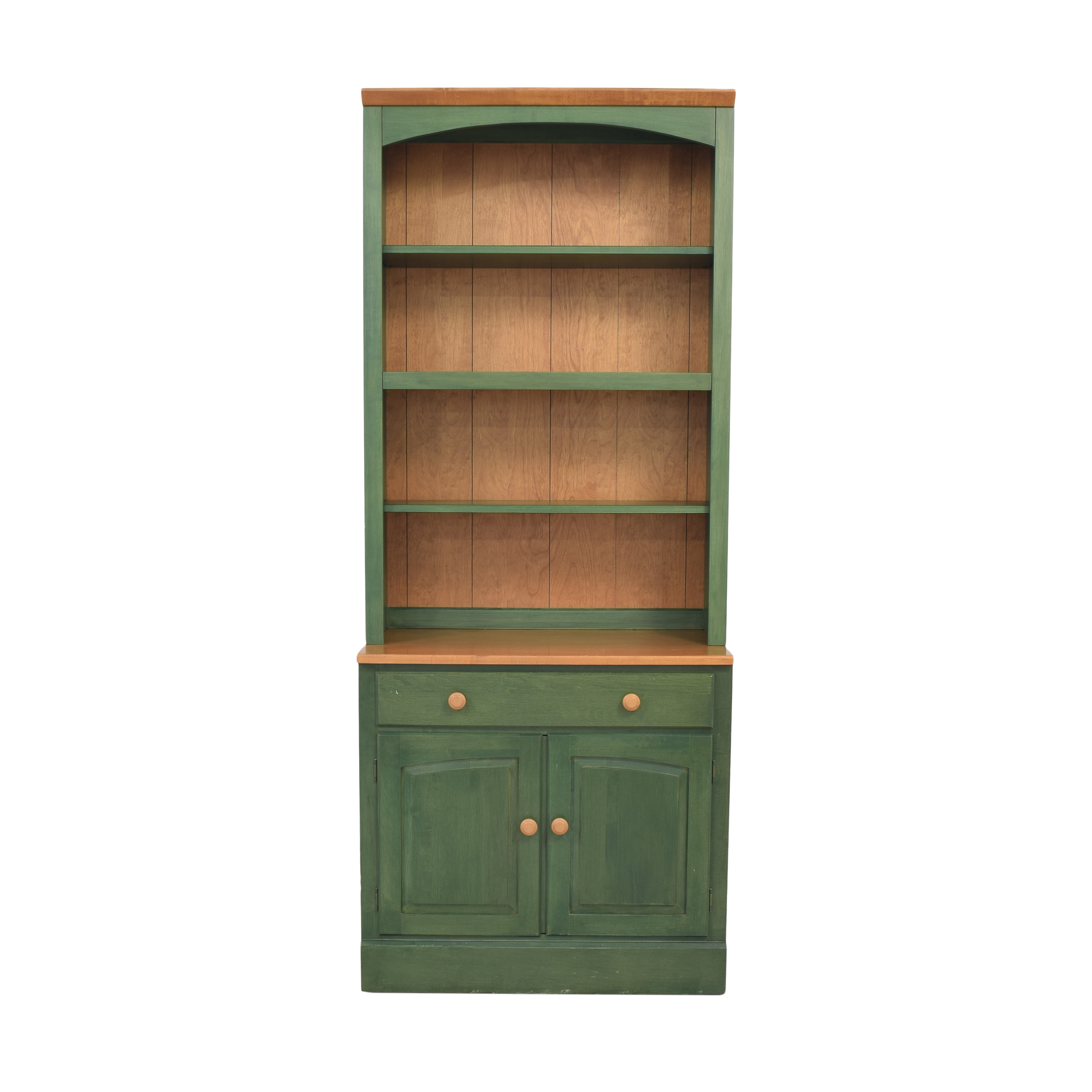 shop Ethan Allen Country Colors Bookcase with Drawer and Cabinet Ethan Allen Storage