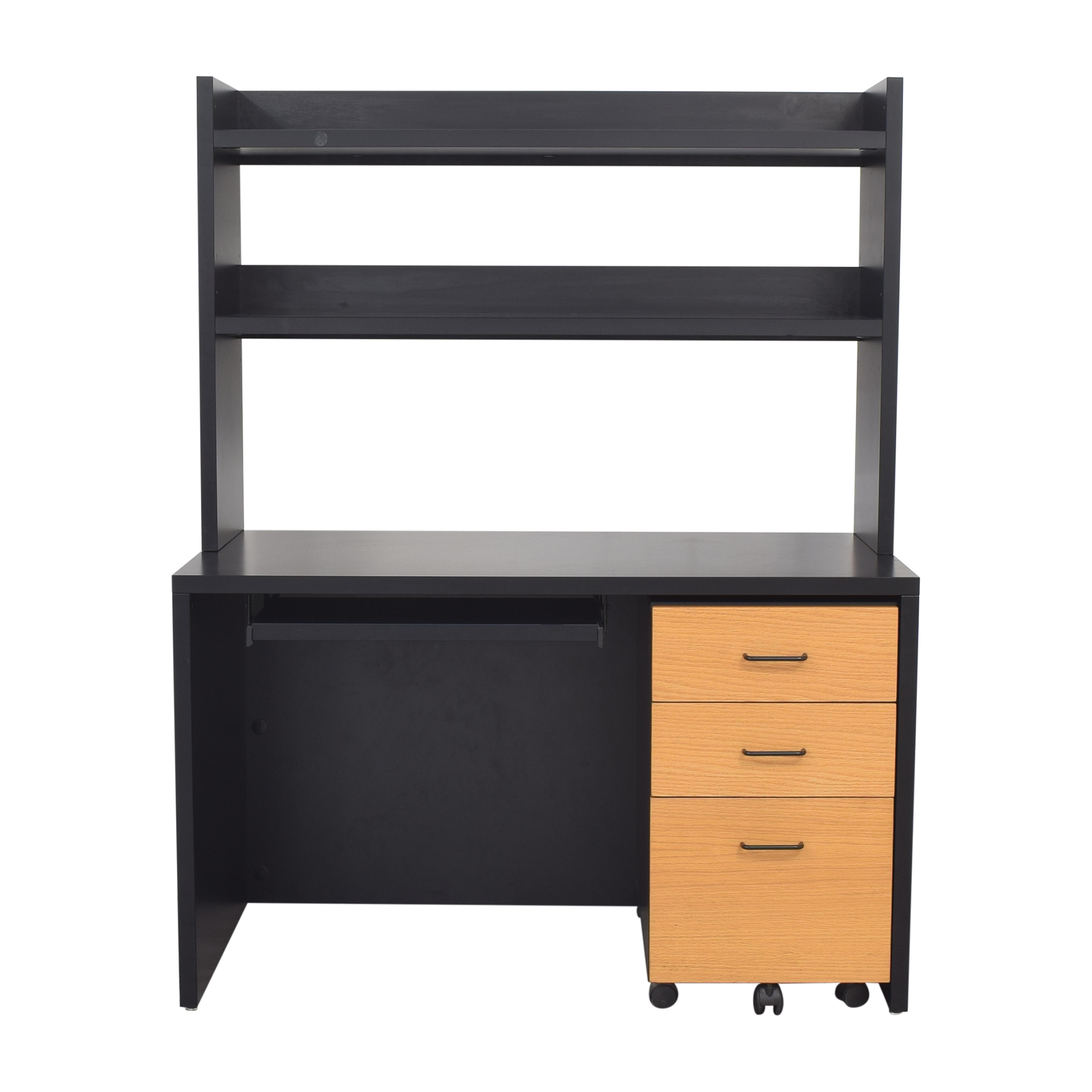 buy Techline Studios Desk with Filing Cabinet Techline Studios