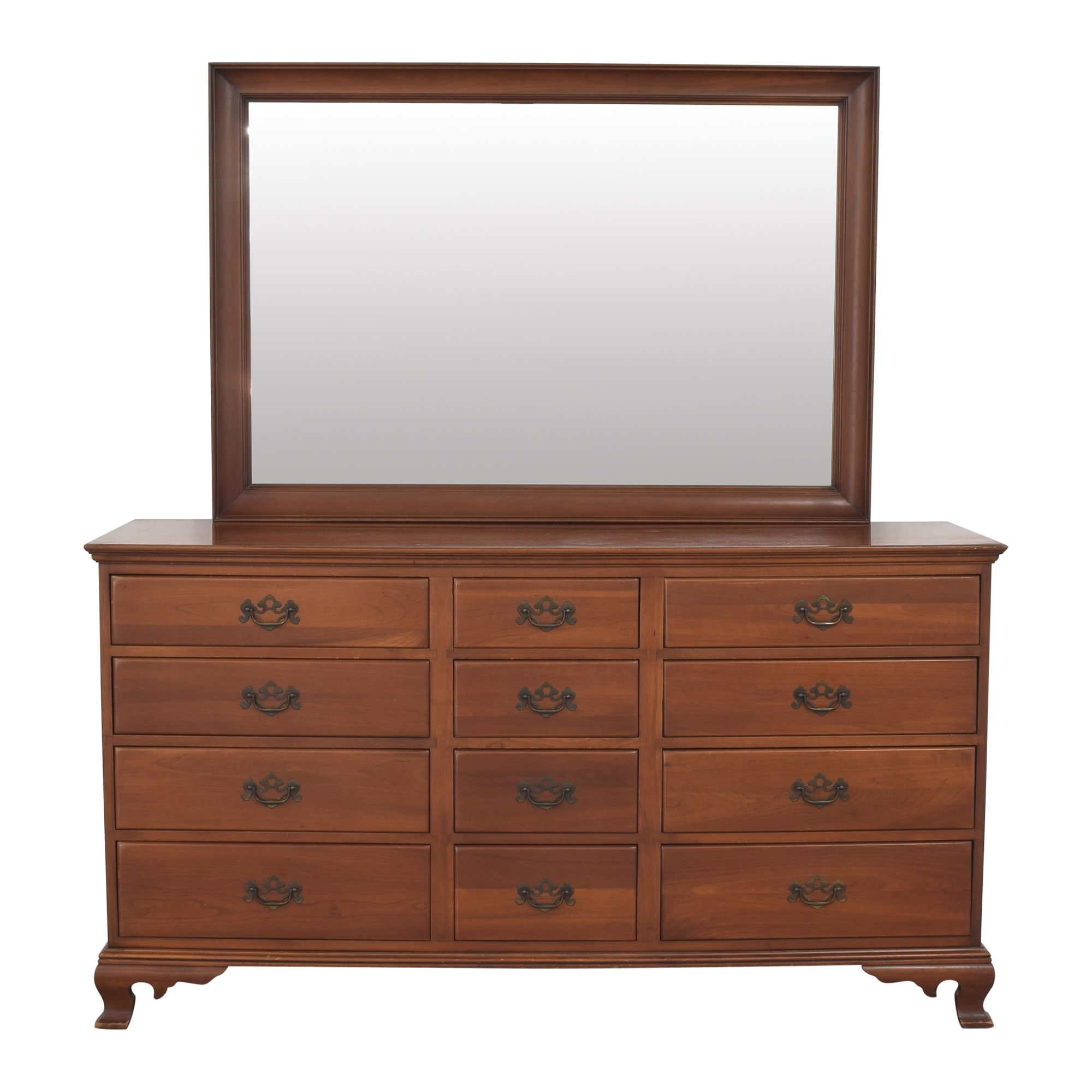 J.B. Van Sciver Furniture J.B. Van Sciver Furniture Twelve Drawer Dresser with Mirror Dressers
