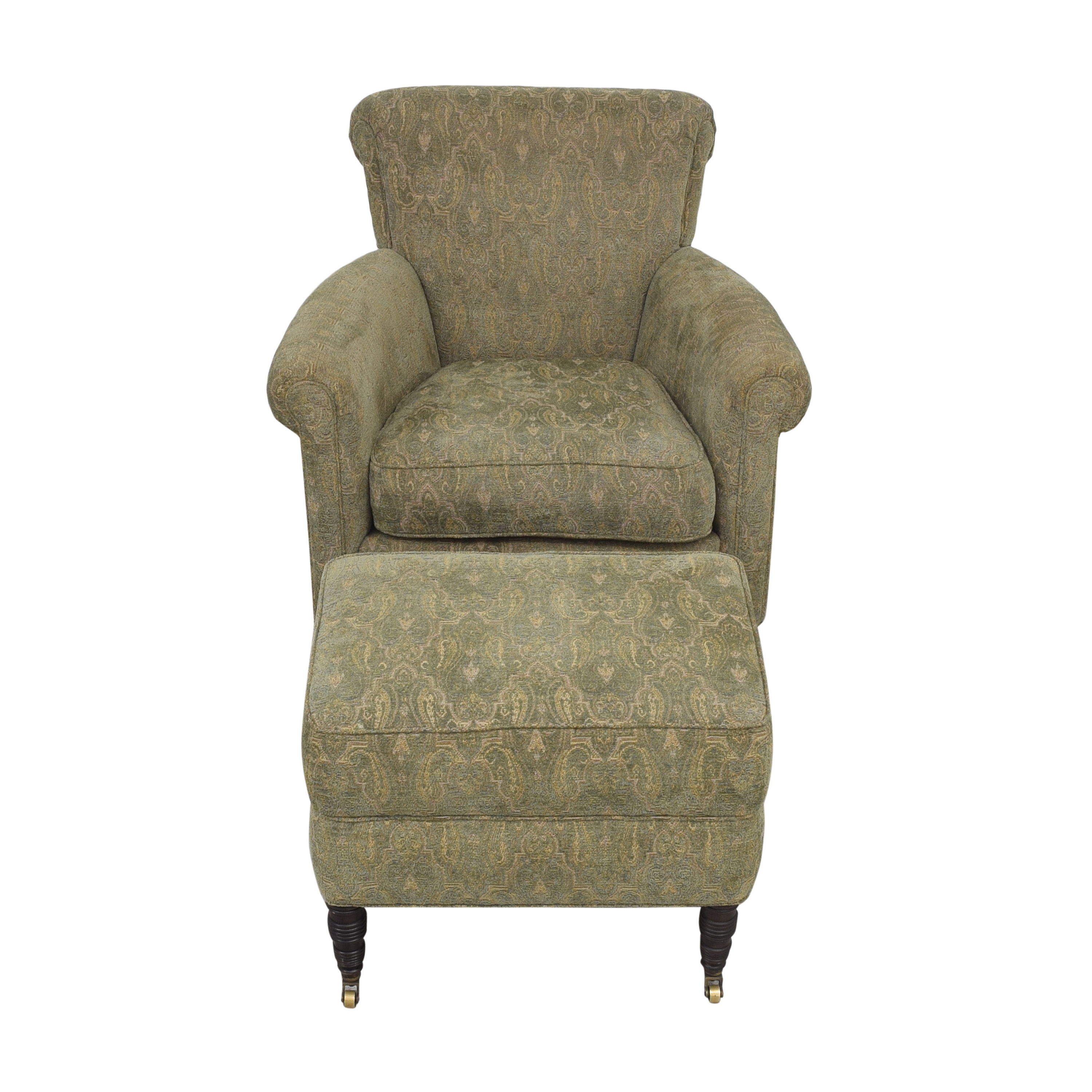 Cisco Brothers Cisco Brothers Accent Chair with Ottoman coupon