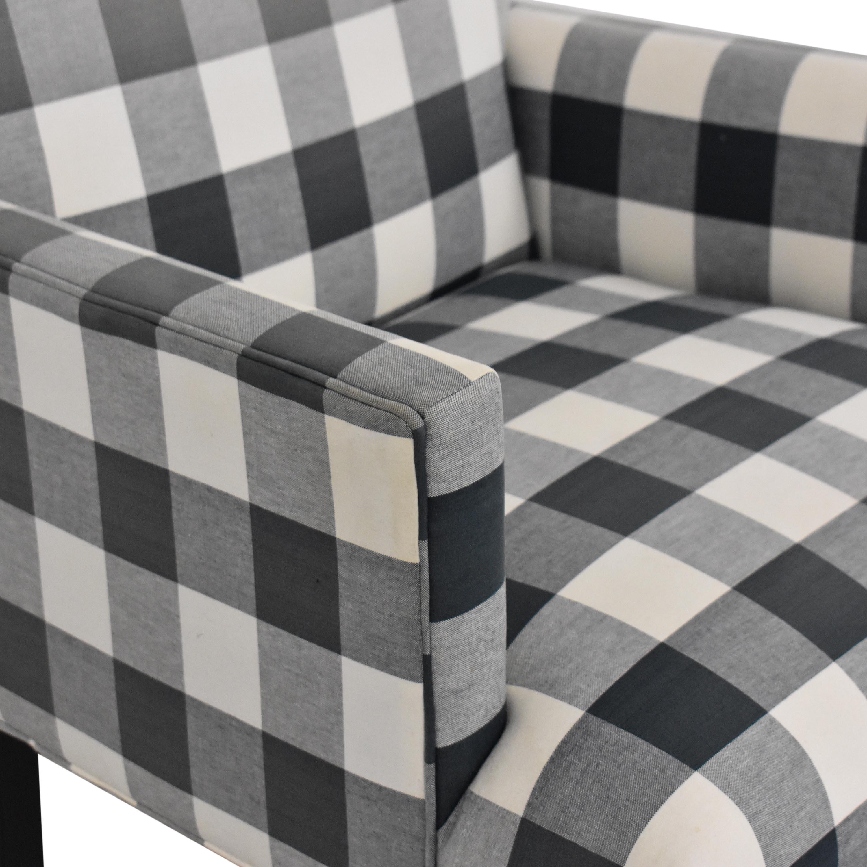 shop Ethan Allen Thomas Plaid Armchair Ethan Allen Chairs