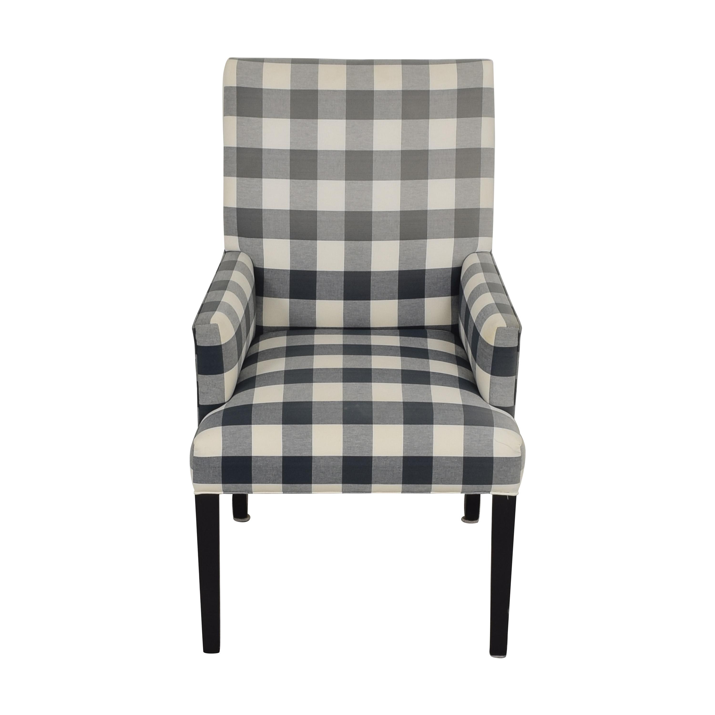 Ethan Allen Thomas Plaid Armchair / Accent Chairs