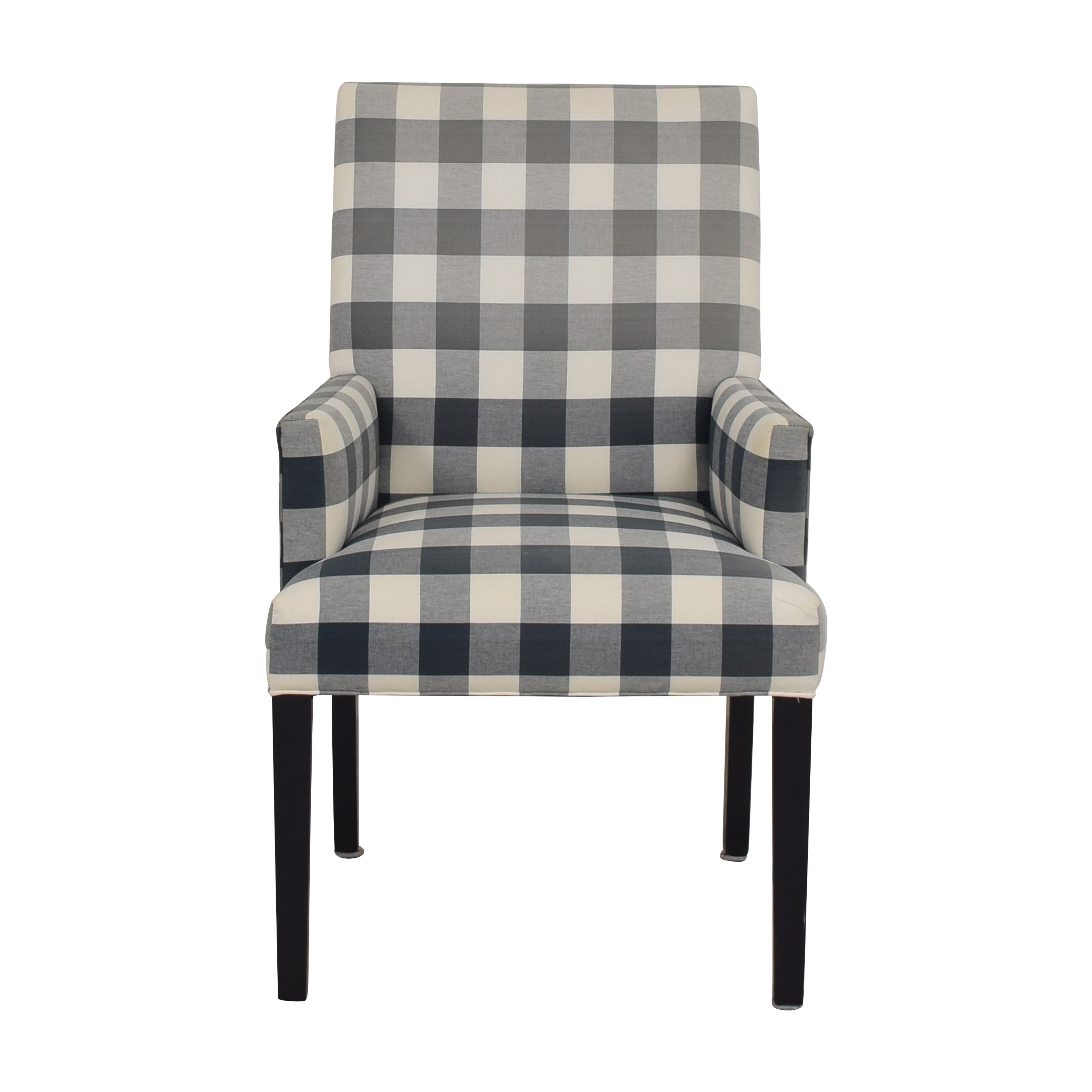 Ethan Allen Thomas Plaid Armchair / Chairs