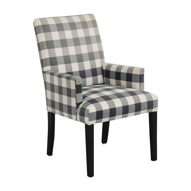 Ethan Allen Ethan Allen Thomas Plaid Armchair Accent Chairs