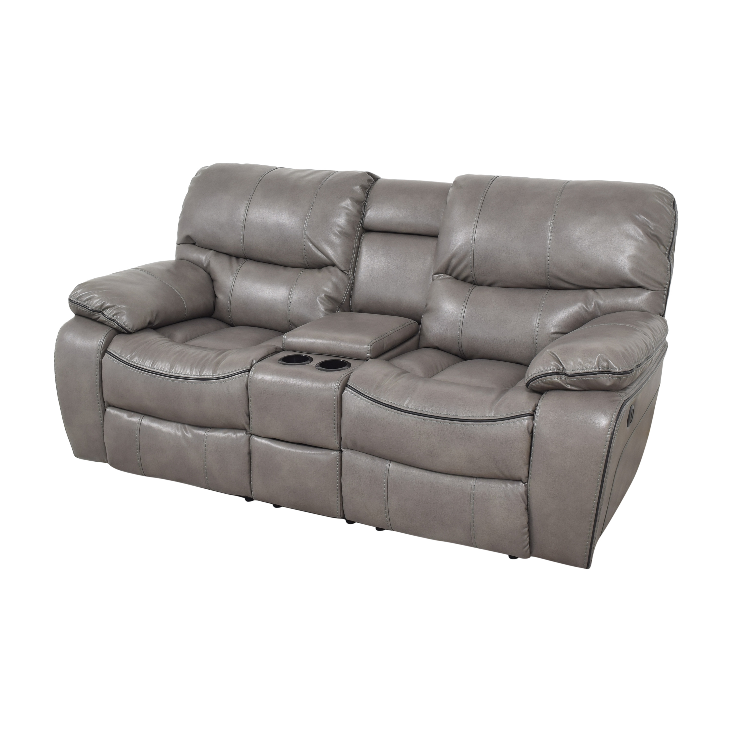 Bob's Discount Furniture Bob's Avenger Power Reclining Console Loveseat ma