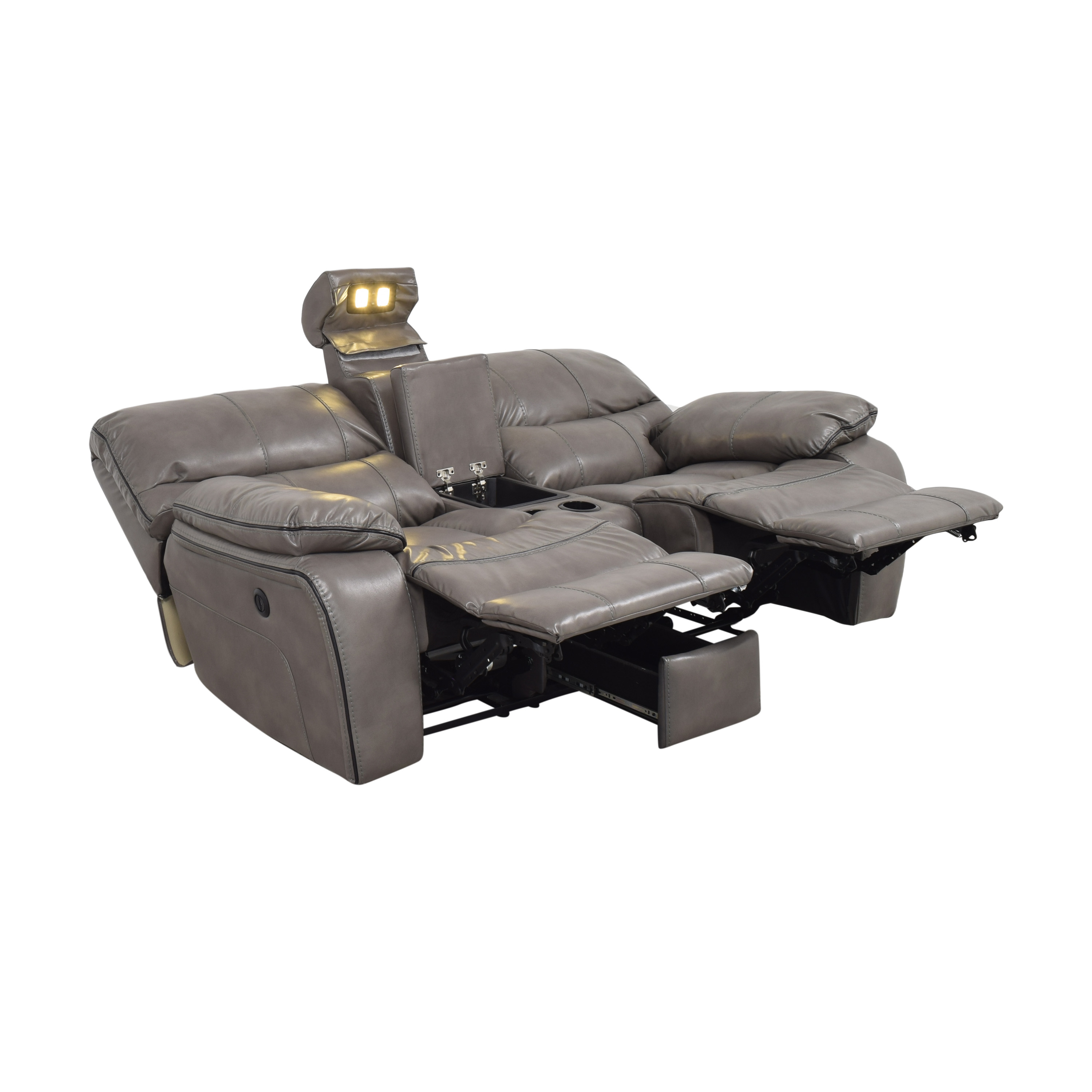 Bob's Avenger Power Reclining Console Loveseat Bob's Discount Furniture