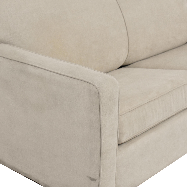 Two Cushion Sleeper Sofa with Pillows pa