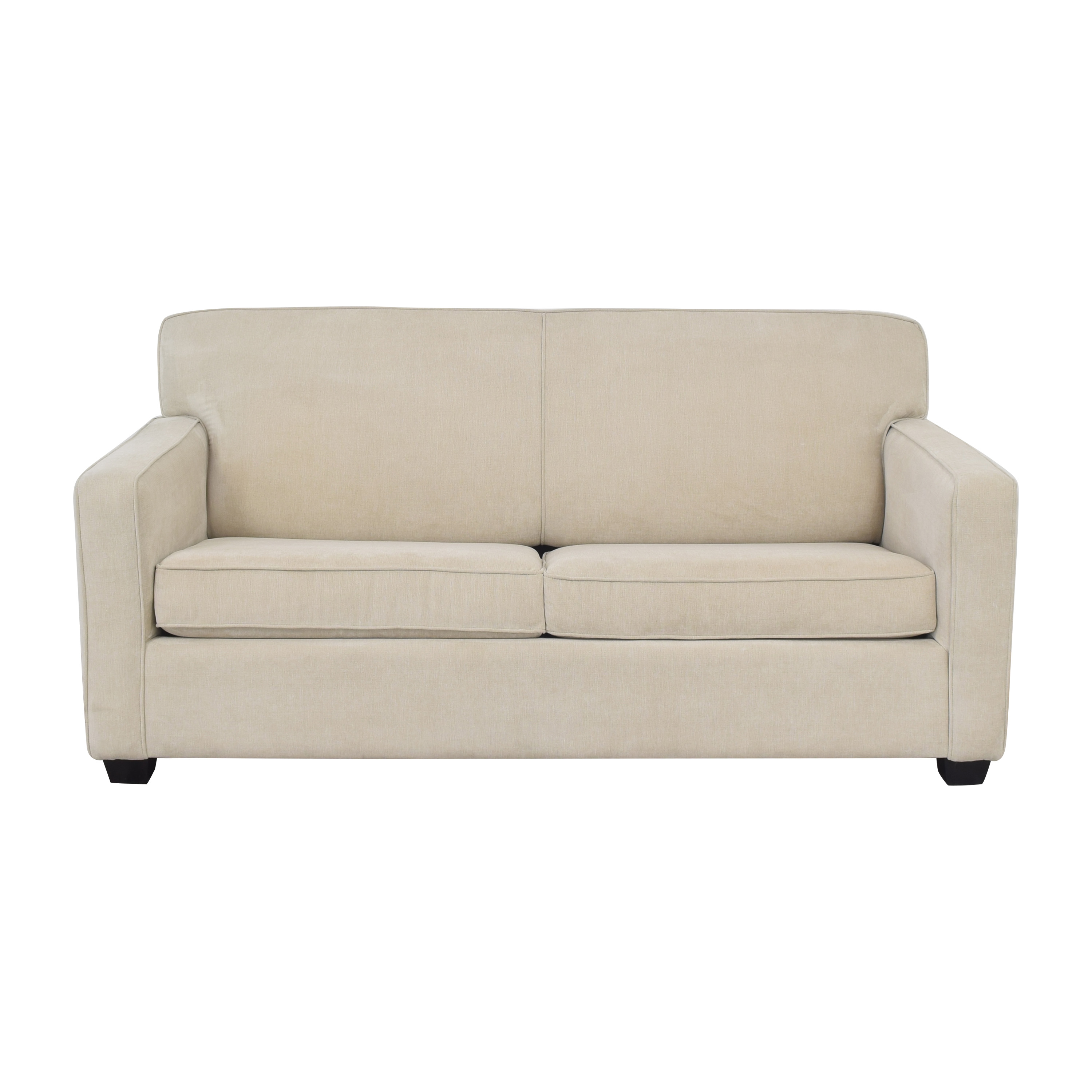 Two Cushion Sleeper Sofa with Pillows Sofa Beds