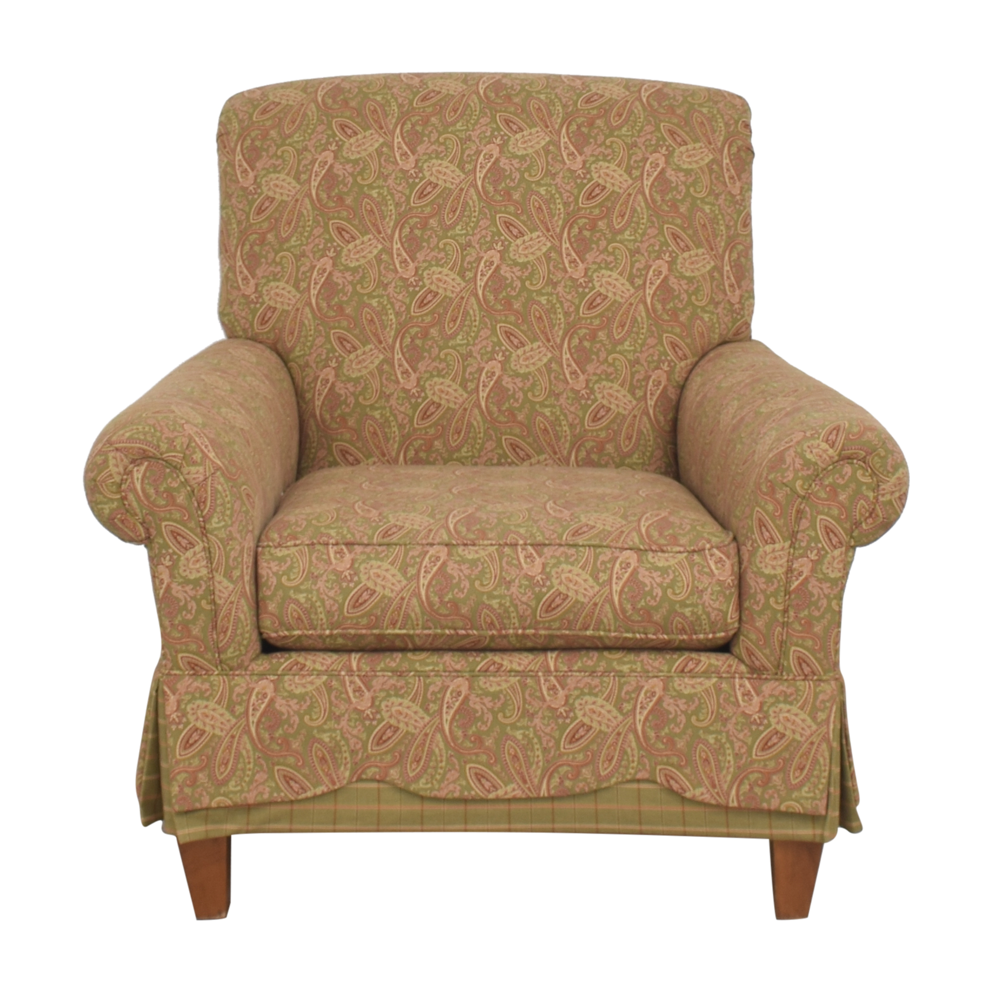 Clayton Marcus Clayton Marcus Skirted Accent Chair Accent Chairs