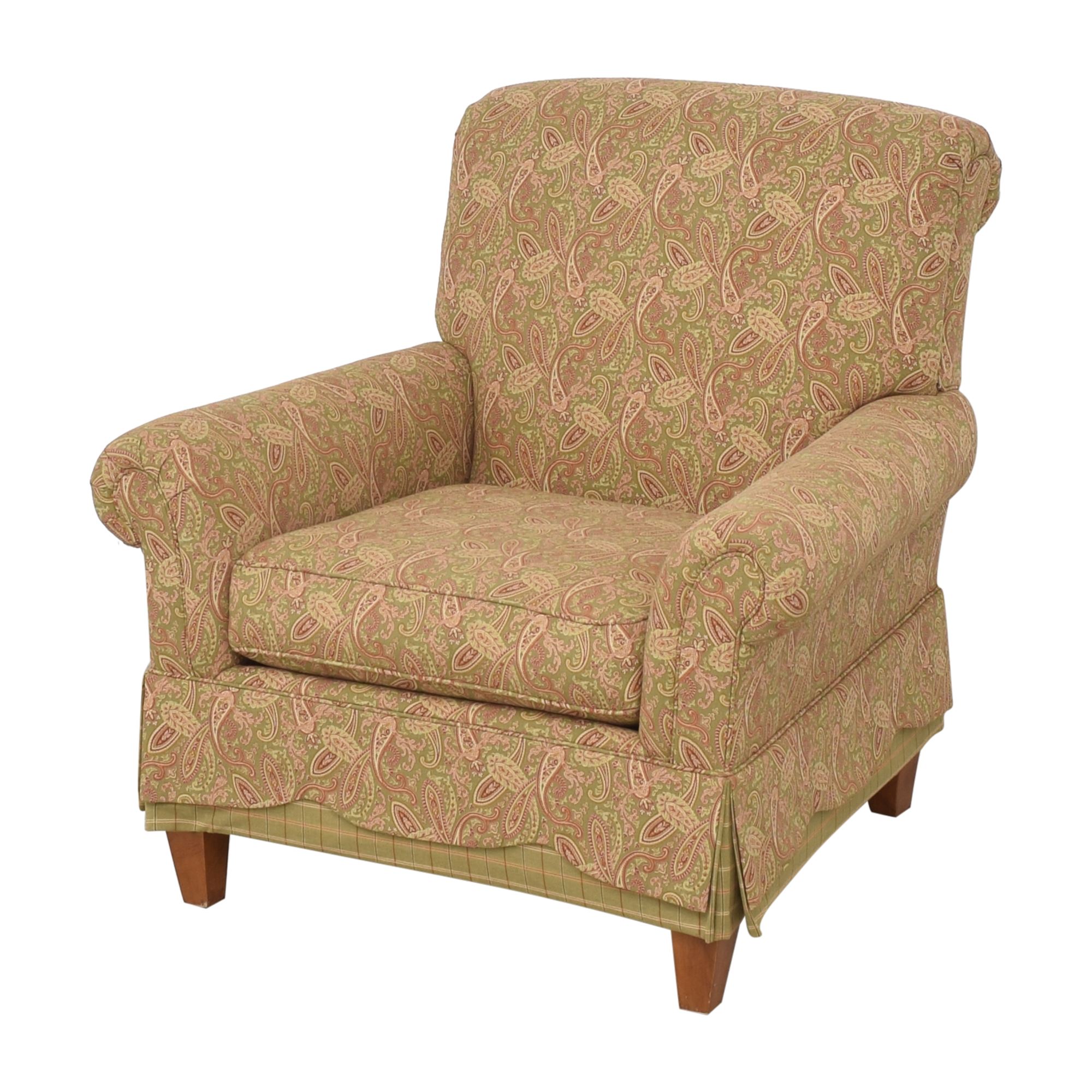 shop Clayton Marcus Skirted Accent Chair Clayton Marcus Chairs