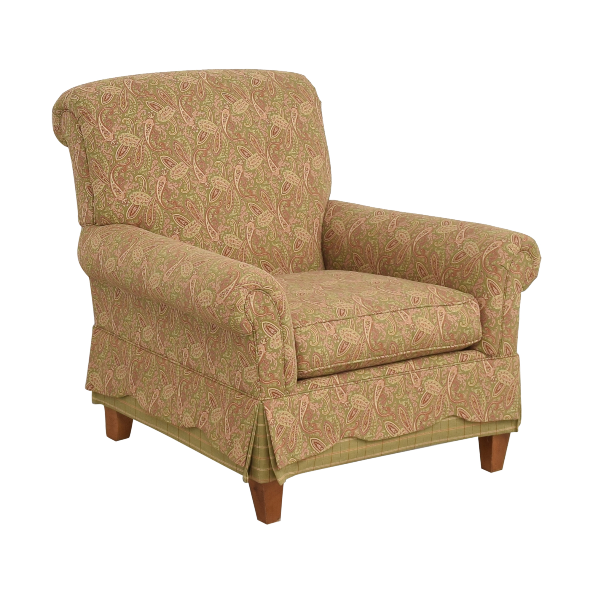 Clayton Marcus Skirted Accent Chair Clayton Marcus