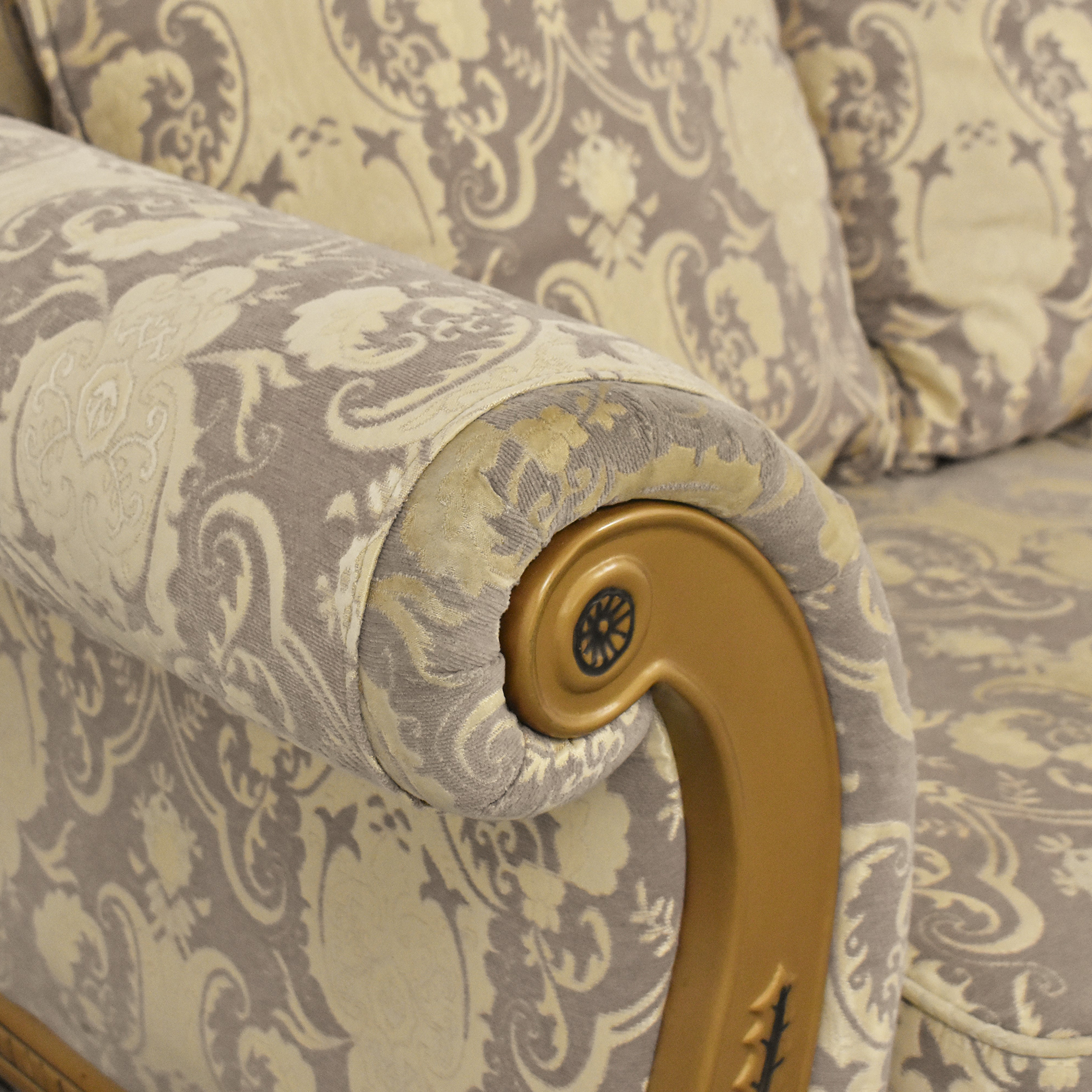 Patterned Roll Arm Sofa