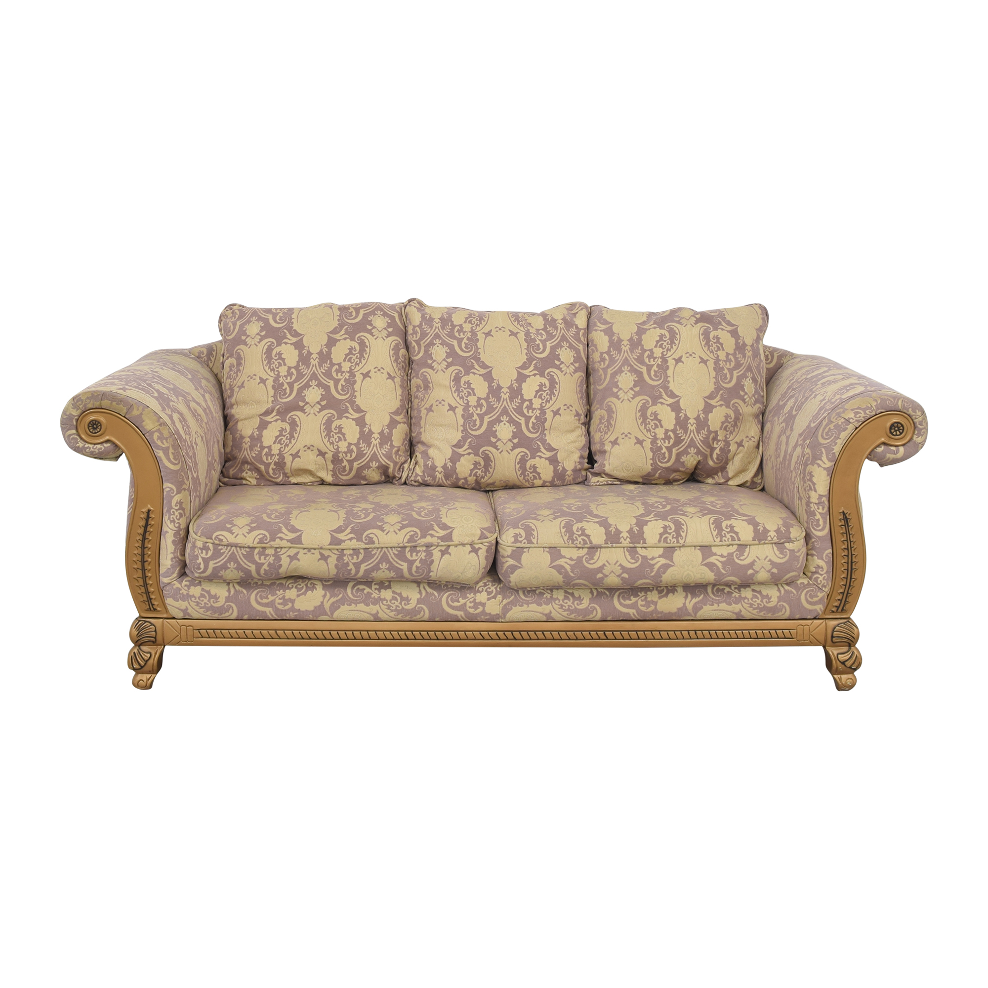Patterned Roll Arm Sofa for sale