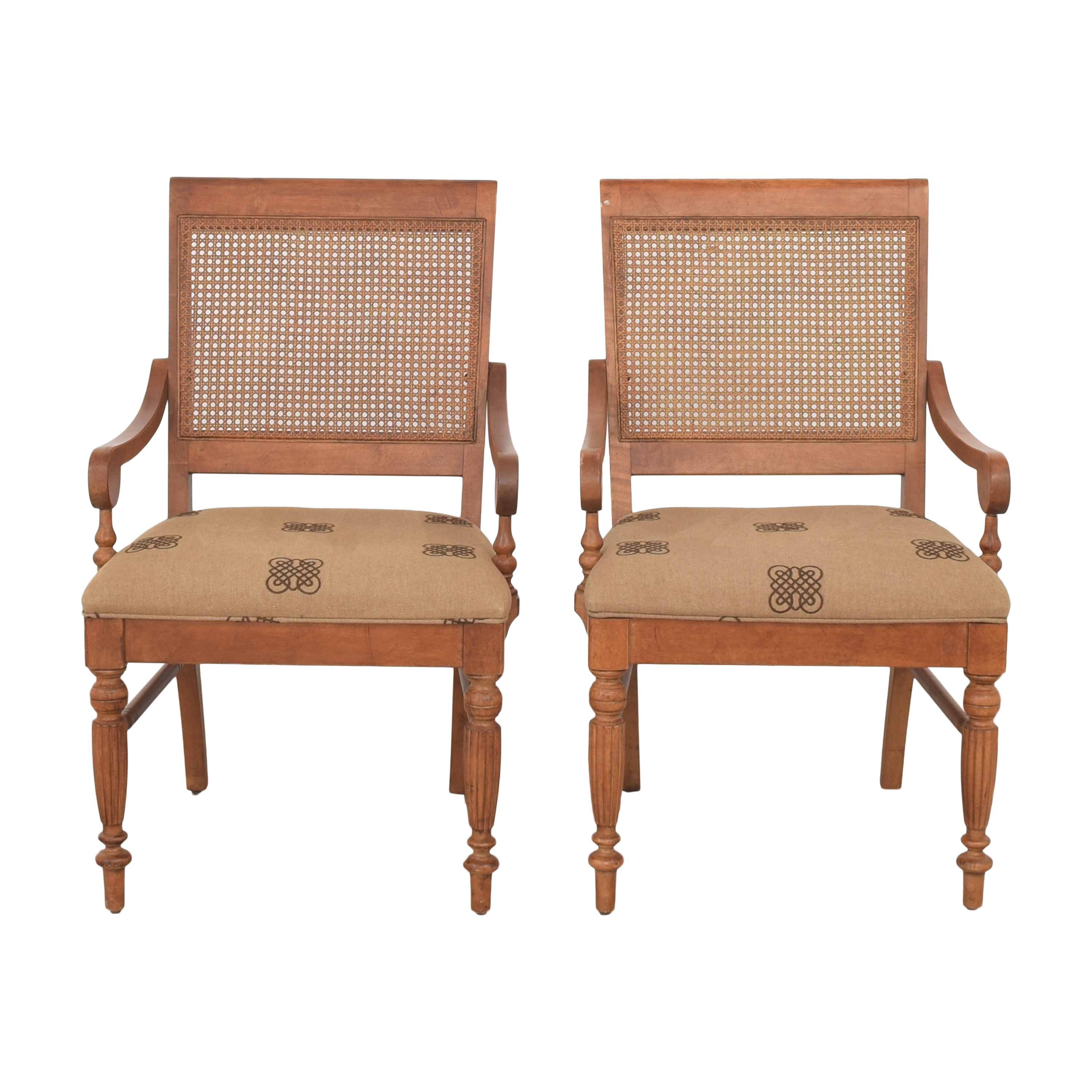 shop Ethan Allen Ethan Allen Upholstered Dining Arm Chairs online