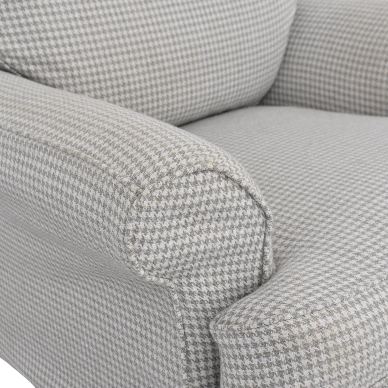 Ethan Allen Ethan Allen Slipcovered Arm Chair light grey & white