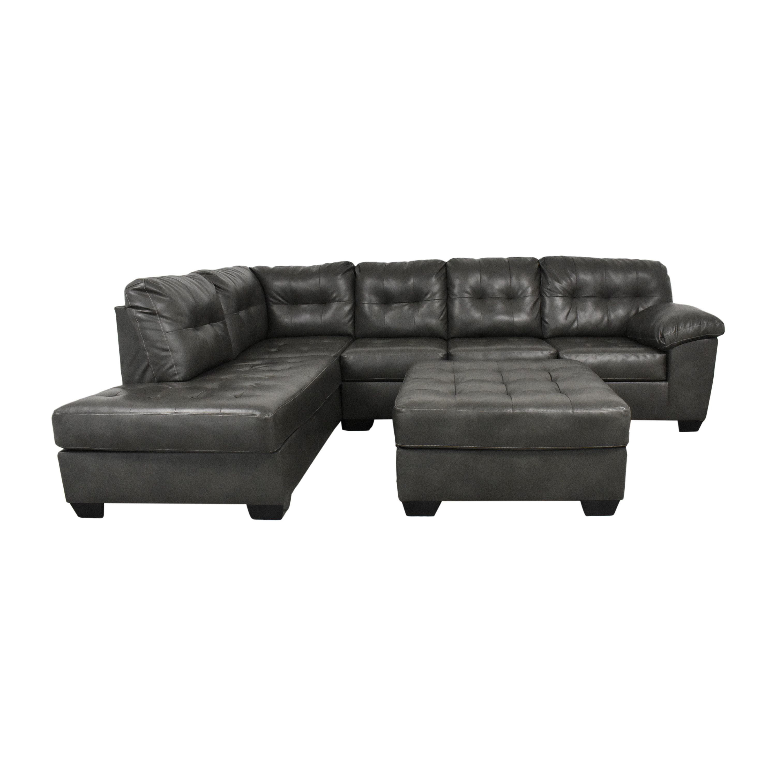 Flash Furniture Flash Furniture Tufted Sectional Sofa with Chaise nyc