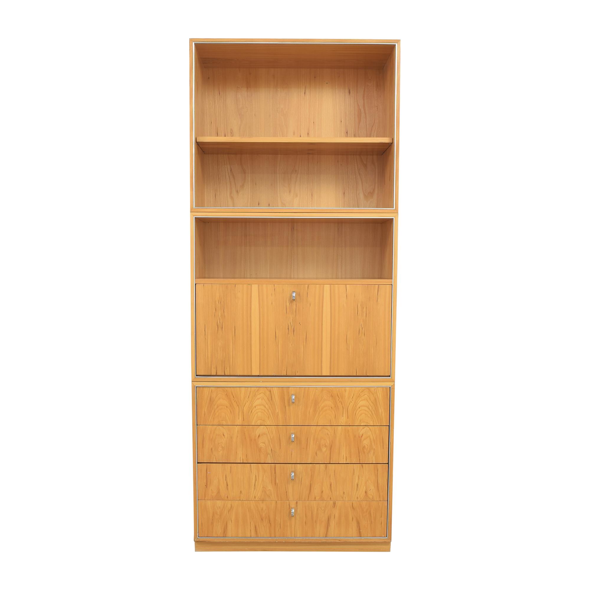 John Stuart Inc. John Stuart Inc. Bookcase with Dry Bar Cabinet nyc